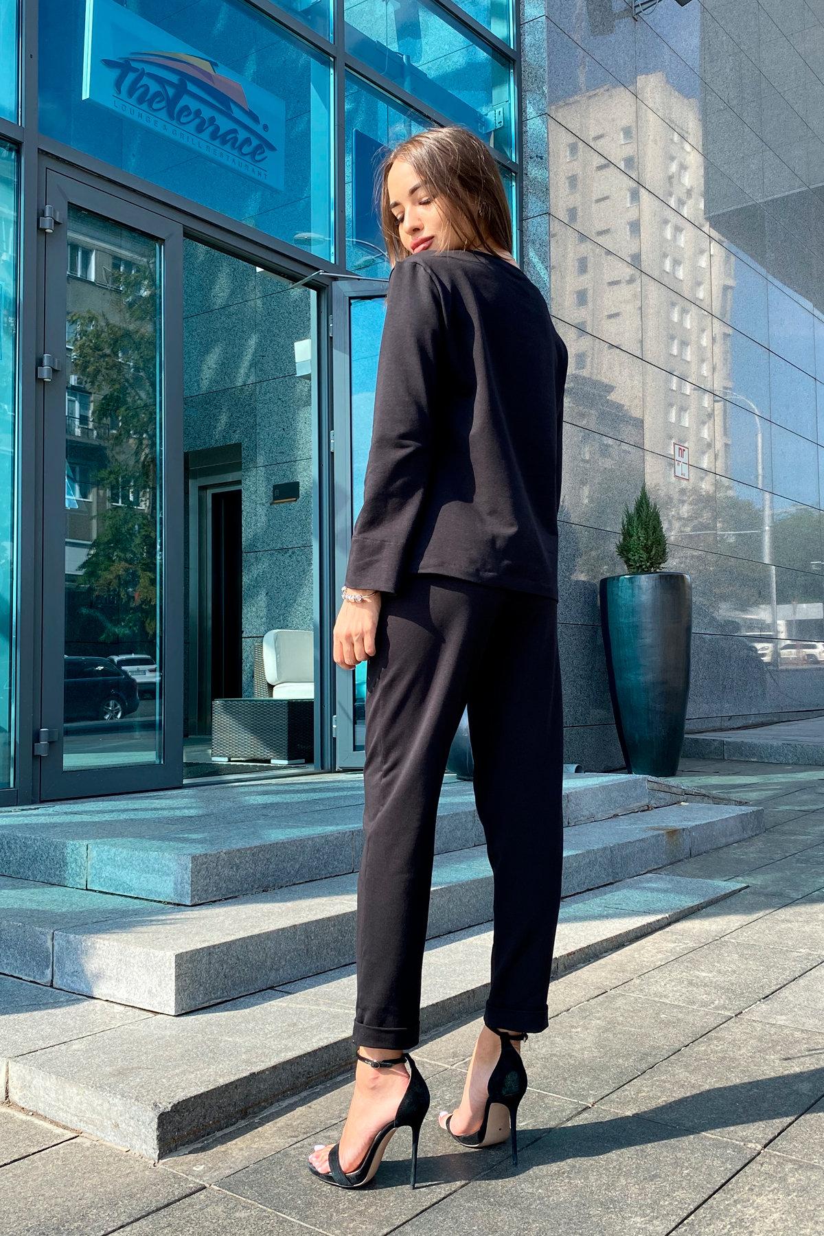 Мови  прогулочный костюм из трикотажа двунитка  9546 АРТ. 45889 Цвет: Черный - фото 2, интернет магазин tm-modus.ru