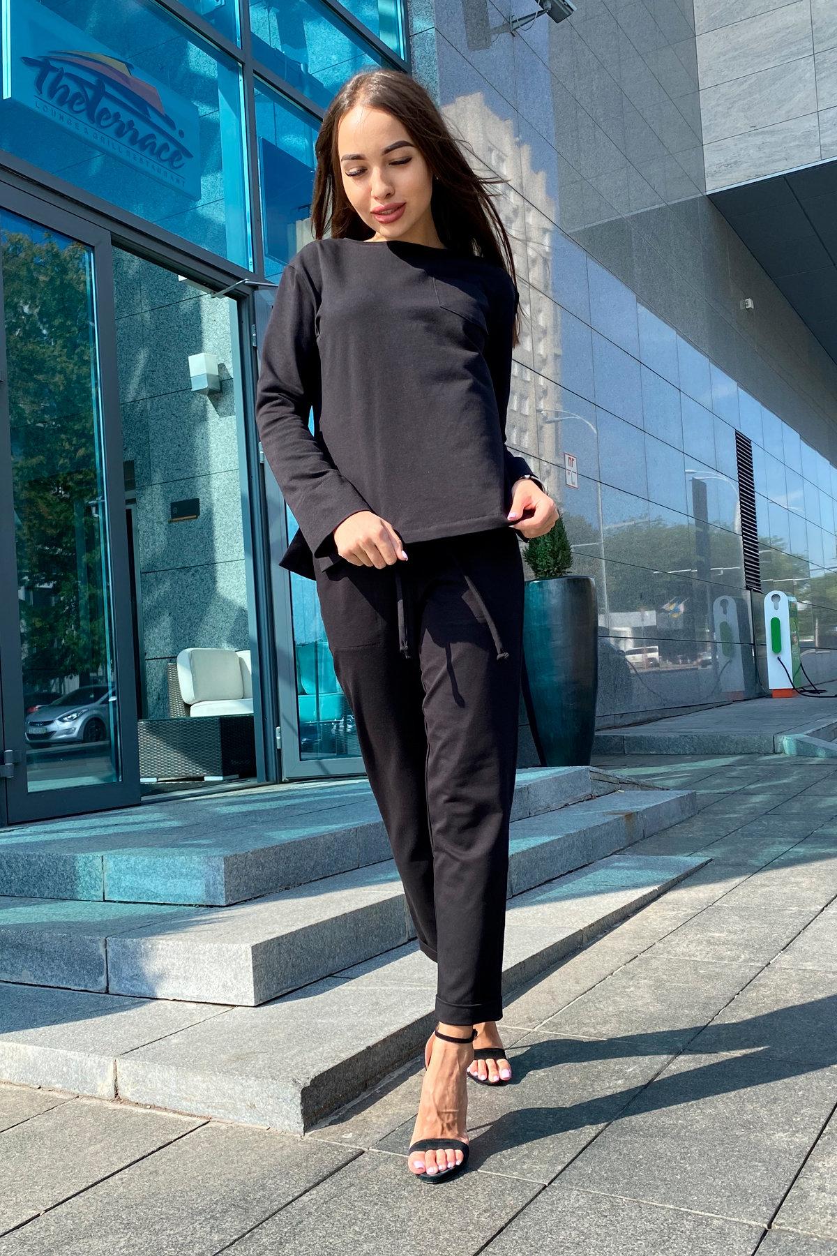 Мови  прогулочный костюм из трикотажа двунитка  9546 АРТ. 45889 Цвет: Черный - фото 5, интернет магазин tm-modus.ru