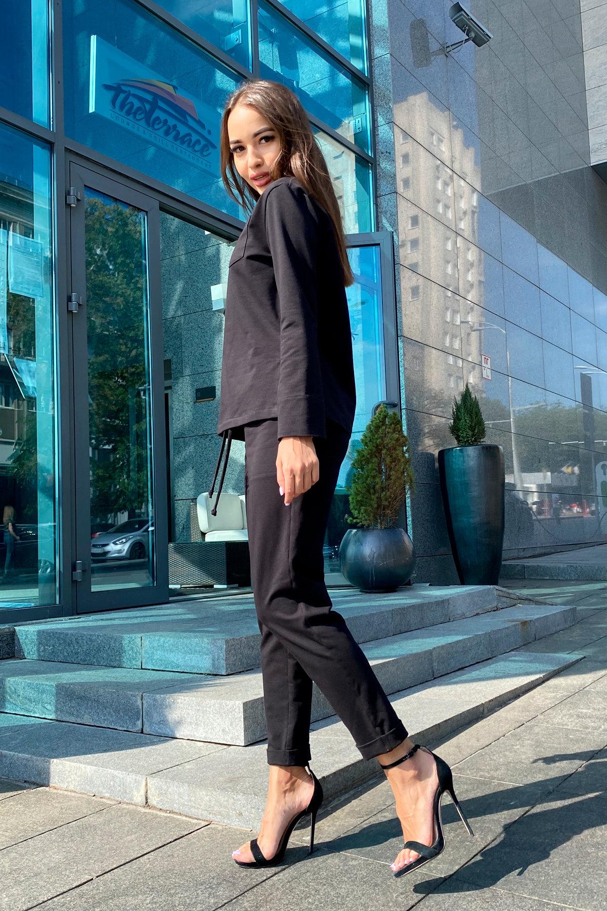 Мови  прогулочный костюм из трикотажа двунитка  9546 АРТ. 45889 Цвет: Черный - фото 6, интернет магазин tm-modus.ru