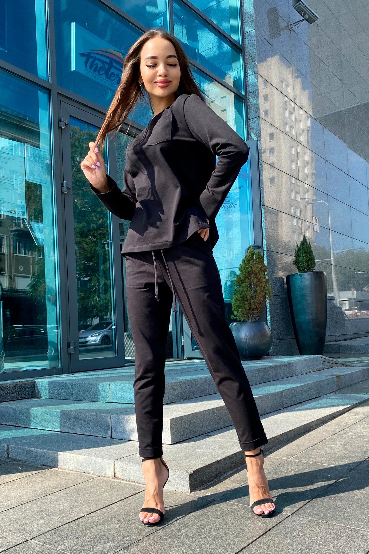 Мови  прогулочный костюм из трикотажа двунитка  9546 АРТ. 45889 Цвет: Черный - фото 7, интернет магазин tm-modus.ru