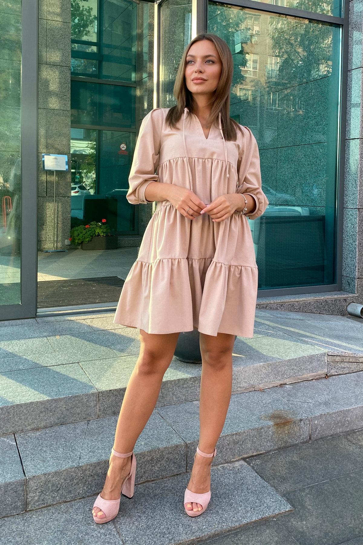 Платье Нинель 9585 АРТ. 45917 Цвет: Бежевый - фото 1, интернет магазин tm-modus.ru