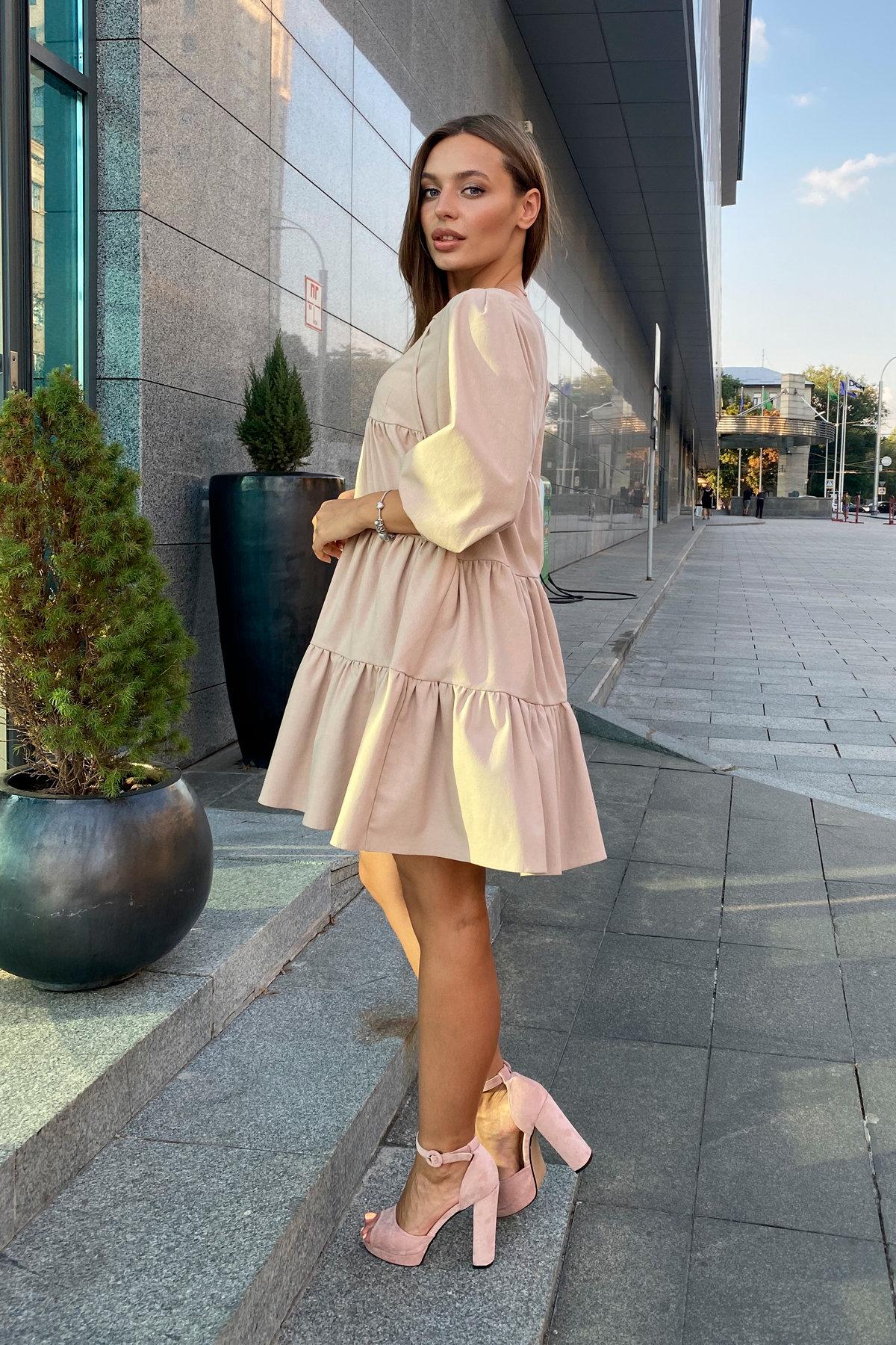 Платье Нинель 9585 АРТ. 45917 Цвет: Бежевый - фото 2, интернет магазин tm-modus.ru