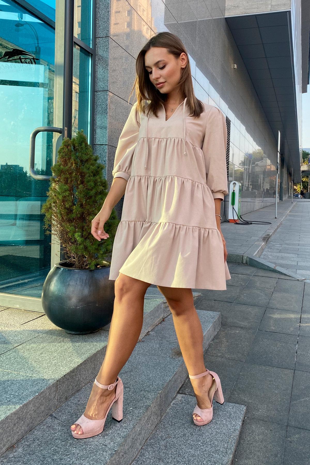 Платье Нинель 9585 АРТ. 45917 Цвет: Бежевый - фото 3, интернет магазин tm-modus.ru
