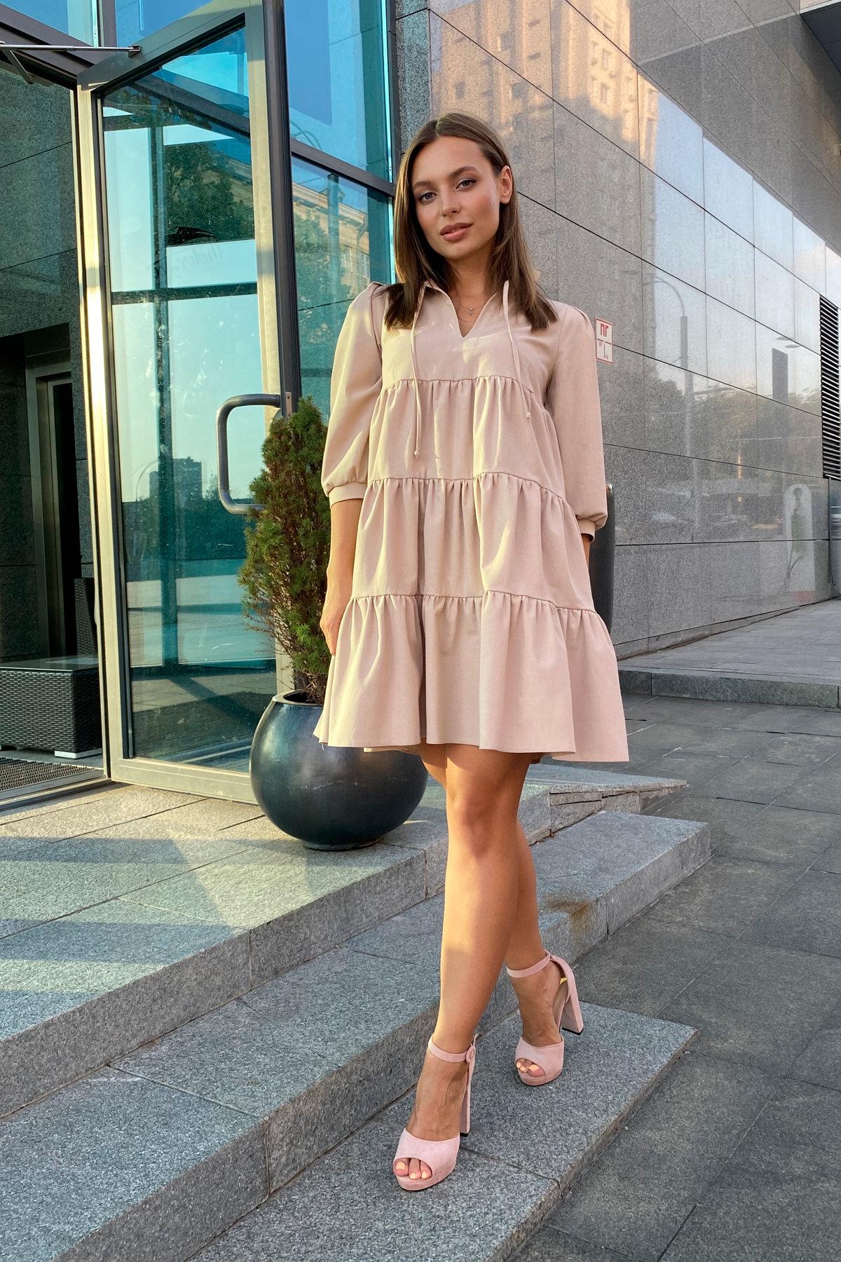 Платье Нинель 9585 АРТ. 45917 Цвет: Бежевый - фото 4, интернет магазин tm-modus.ru