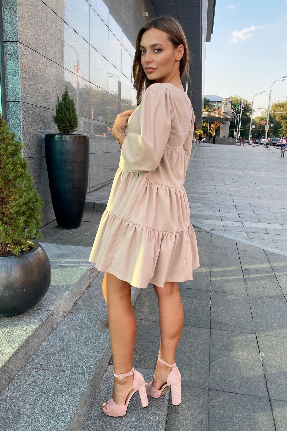 Платье Нинель 9585 АРТ. 45917 Цвет: Бежевый - фото 5, интернет магазин tm-modus.ru
