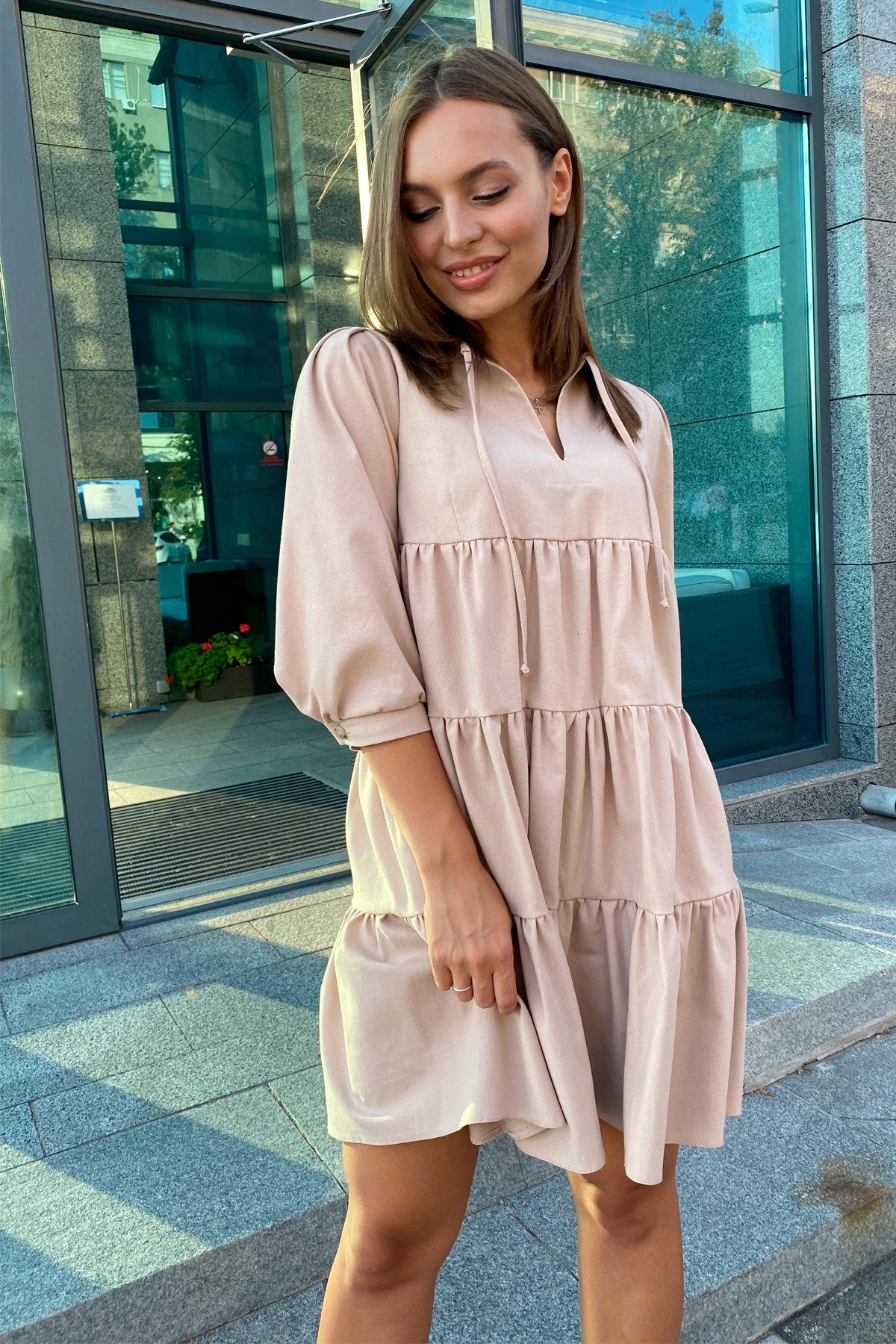 Платье Нинель 9585 АРТ. 45917 Цвет: Бежевый - фото 7, интернет магазин tm-modus.ru