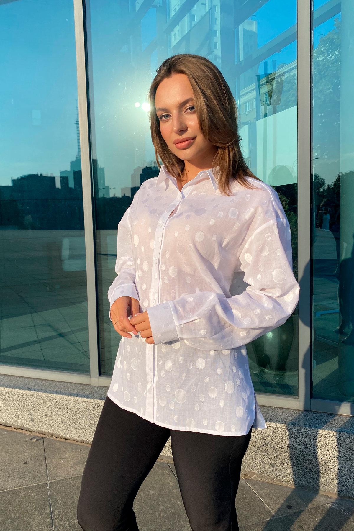 Блуза Эйплс 96242 АРТ. 45930 Цвет: Белый - фото 3, интернет магазин tm-modus.ru