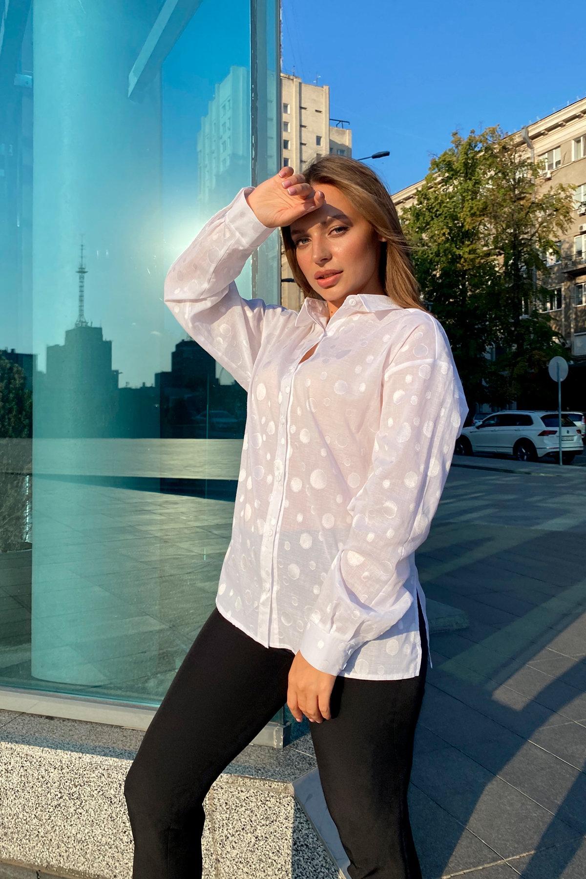 Блуза Эйплс 96242 АРТ. 45930 Цвет: Белый - фото 4, интернет магазин tm-modus.ru