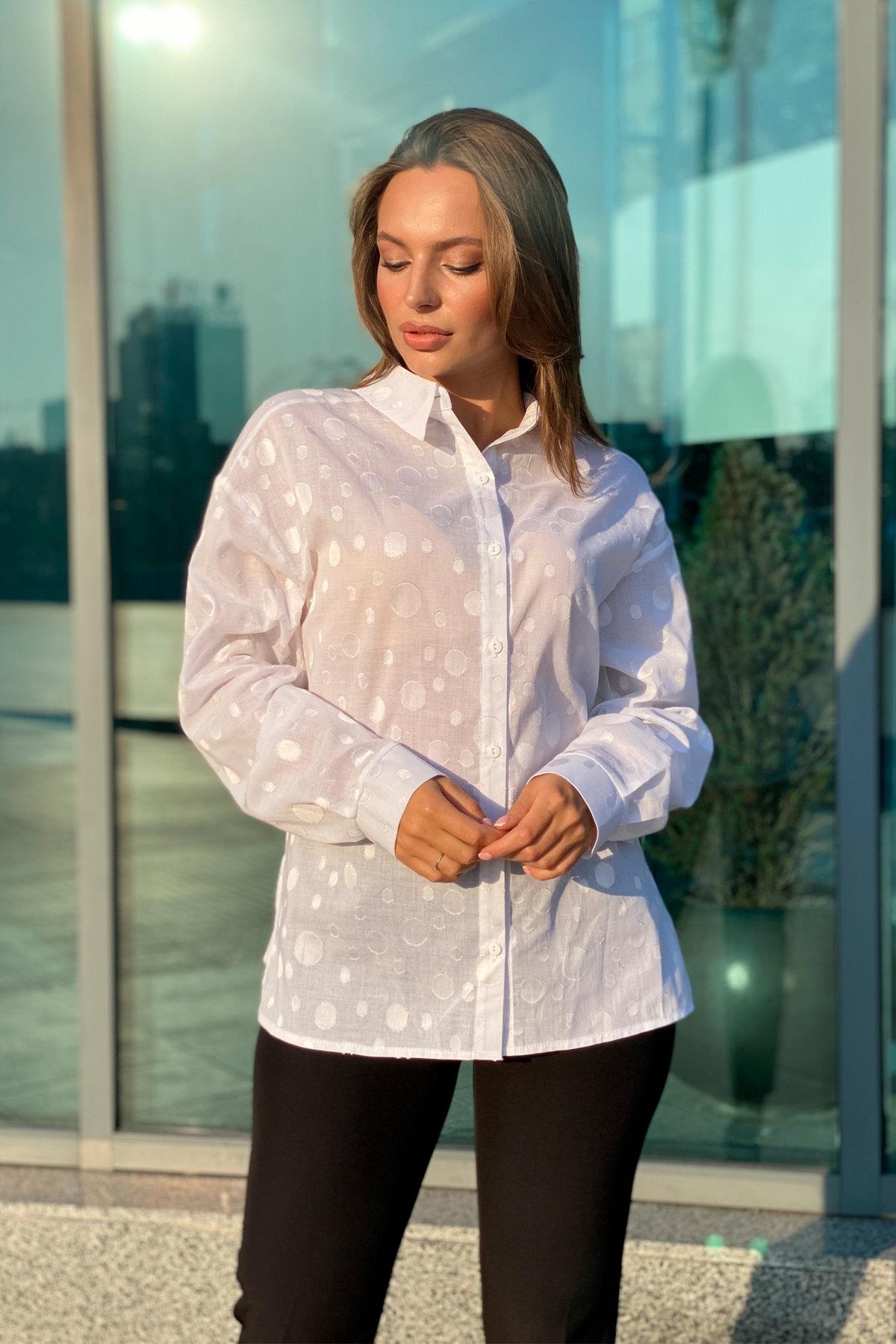 Блуза Эйплс 96242 АРТ. 45930 Цвет: Белый - фото 8, интернет магазин tm-modus.ru