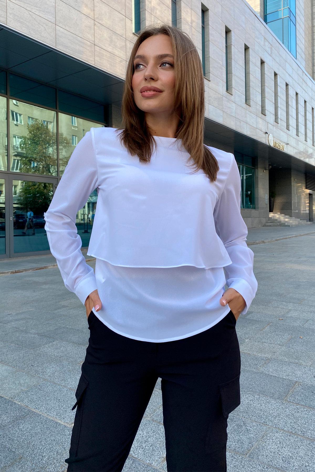 Блузка Ноа лайт 9594 АРТ. 45919 Цвет: Белый - фото 6, интернет магазин tm-modus.ru