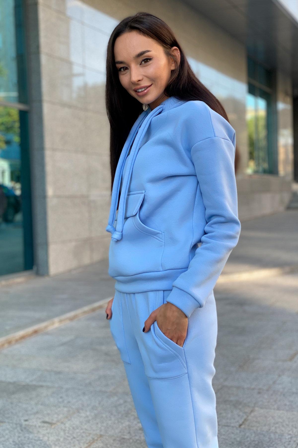 Бруклин трикотаж 3х нитка с начесом прогулочный костюм 9663 АРТ. 45965 Цвет: Голубой - фото 8, интернет магазин tm-modus.ru