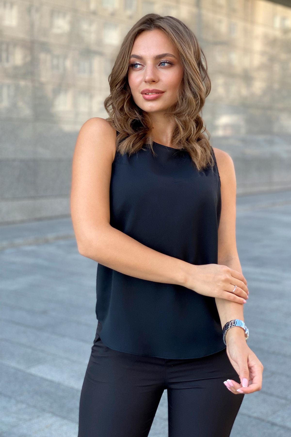 Блуза База 9596 АРТ. 45950 Цвет: Черный - фото 6, интернет магазин tm-modus.ru