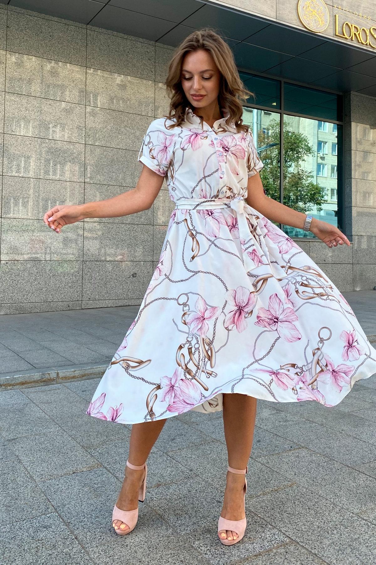 Санжар миди софт принт платье 9090