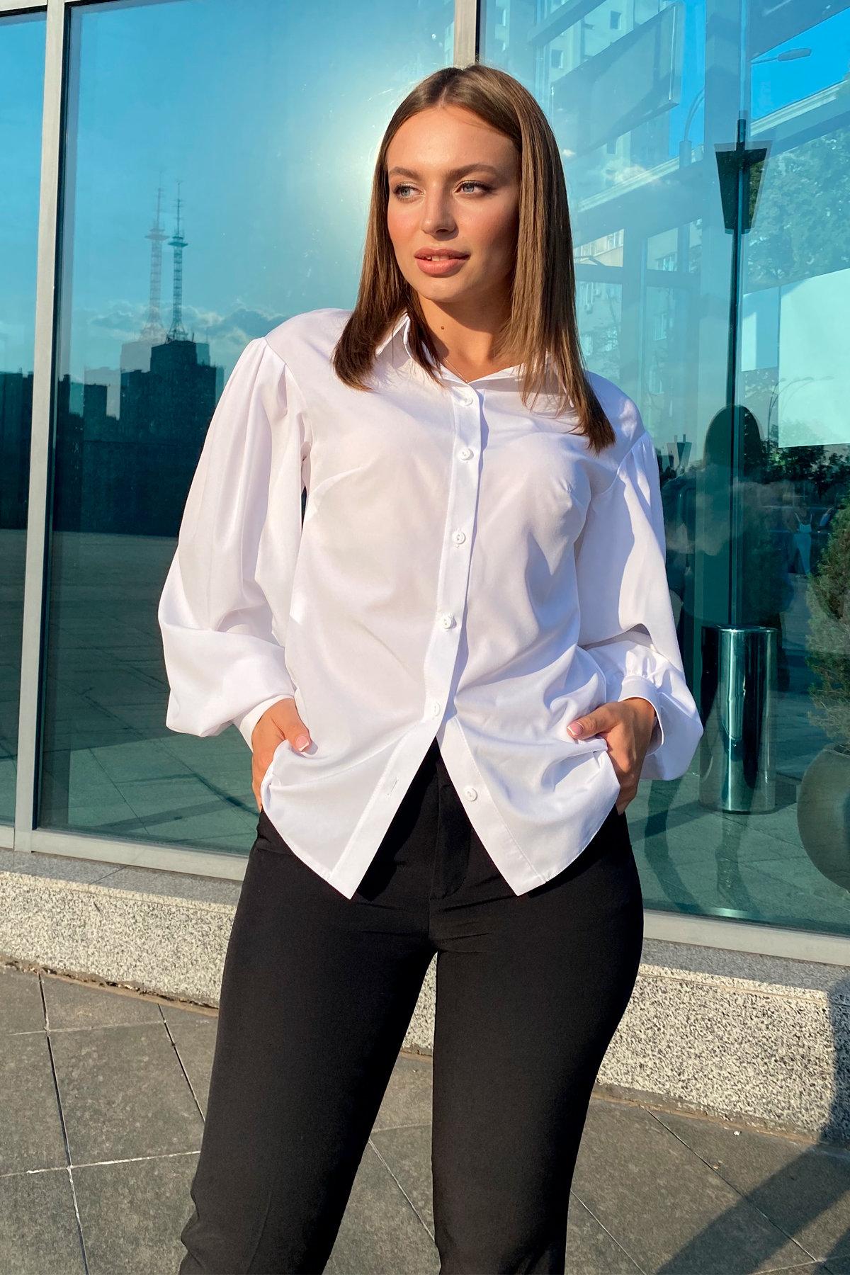 Блузка Гейм 9604 АРТ. 45924 Цвет: Белый - фото 3, интернет магазин tm-modus.ru