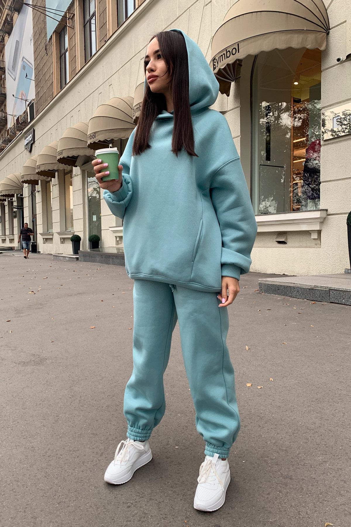 Марион костюм в  стиле Oversize  3х нитка 9651 АРТ. 45983 Цвет: Олива - фото 2, интернет магазин tm-modus.ru
