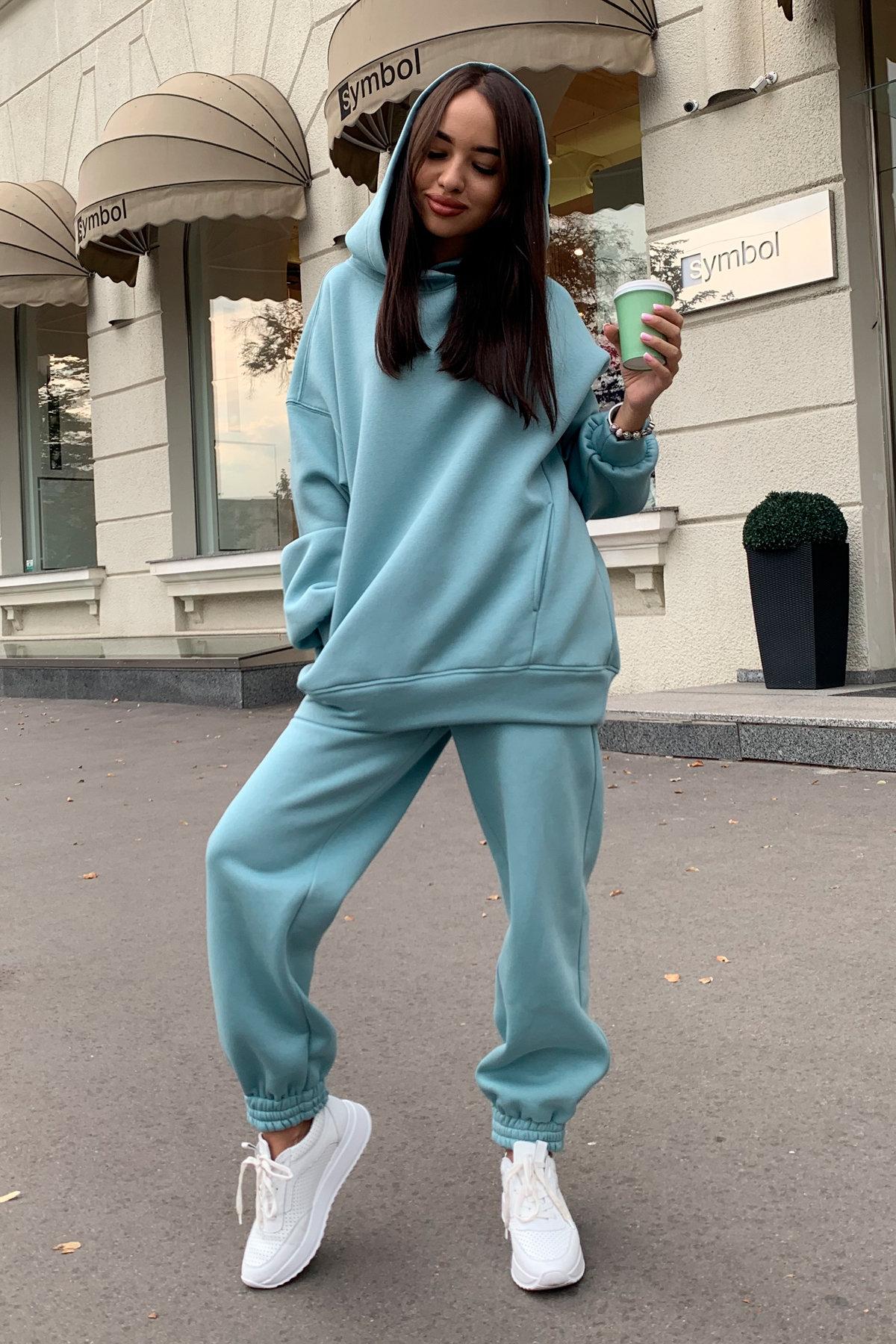 Марион костюм в  стиле Oversize  3х нитка 9651 АРТ. 45983 Цвет: Олива - фото 6, интернет магазин tm-modus.ru