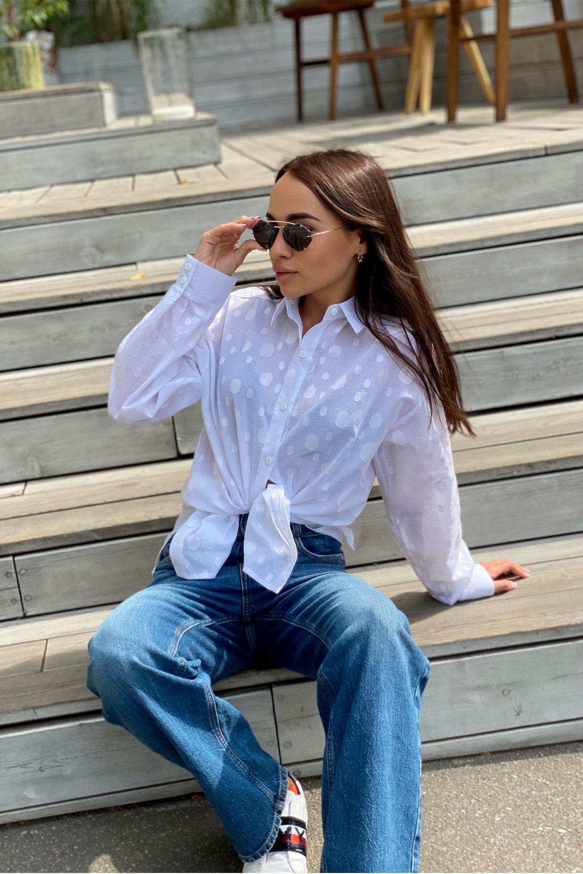 Блуза Эйплс 96242 АРТ. 45930 Цвет: Белый - фото 9, интернет магазин tm-modus.ru