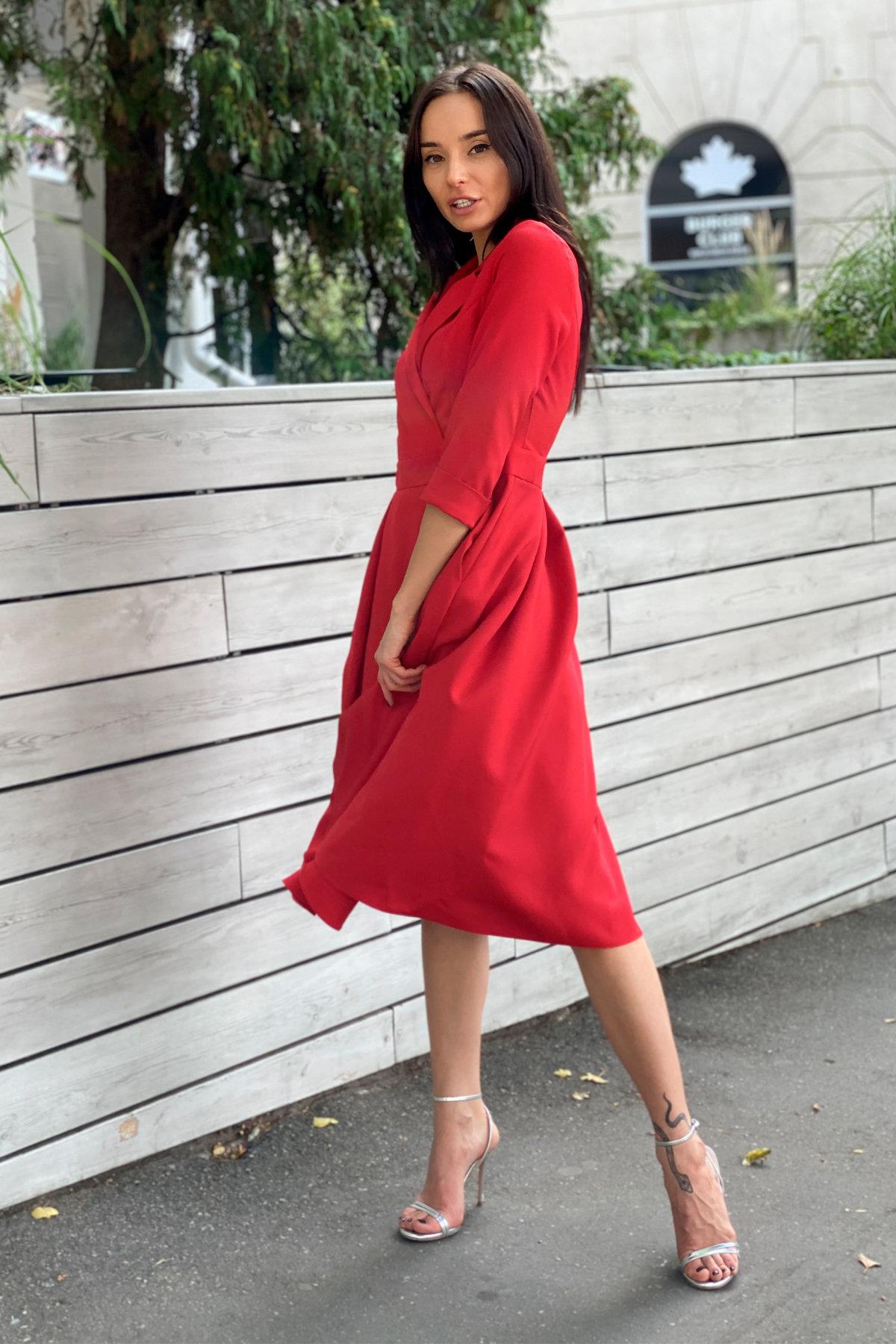 Платье в офис Артего 7832 АРТ. 43767 Цвет: Красный 4 - фото 2, интернет магазин tm-modus.ru