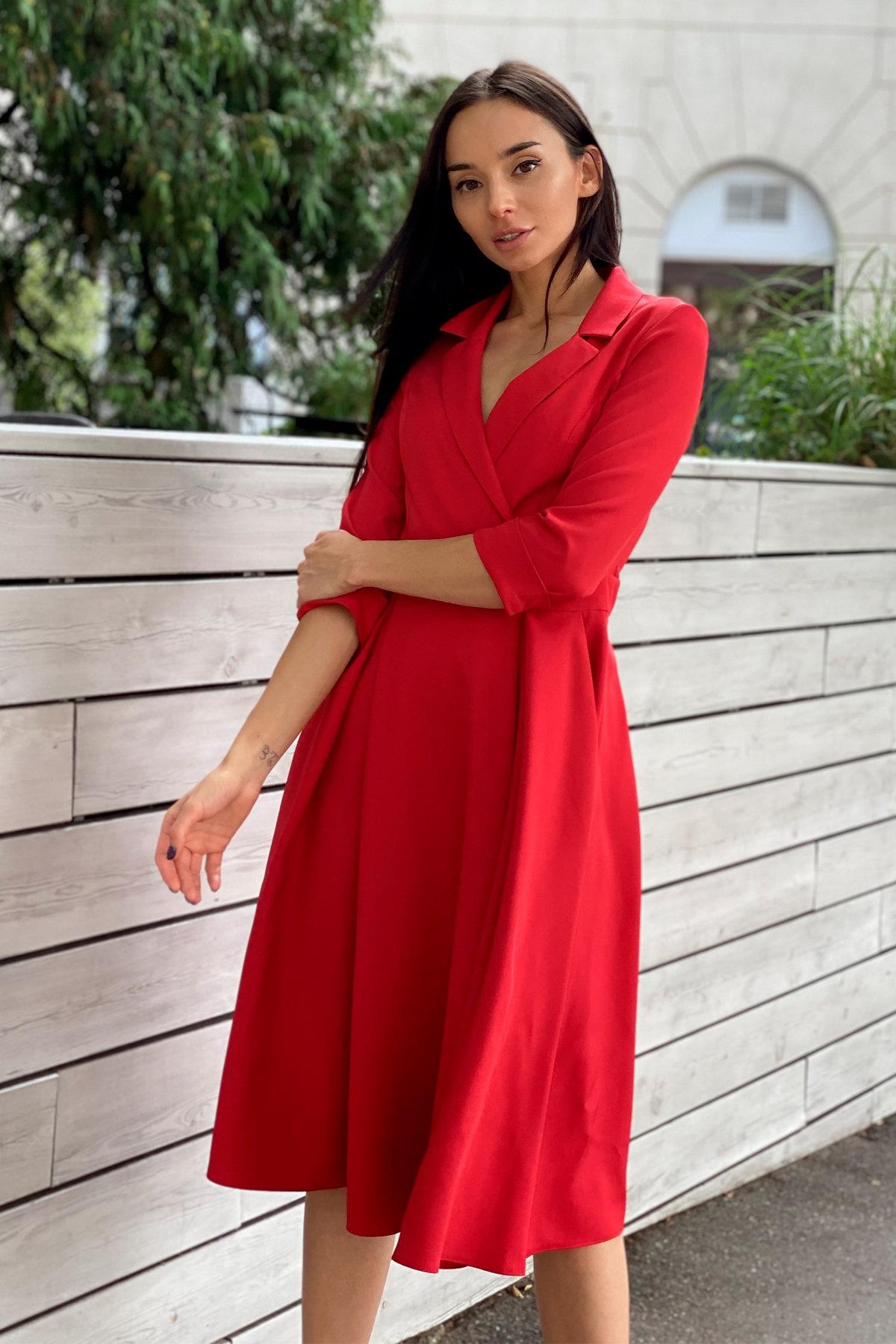 Платье в офис Артего 7832 АРТ. 43767 Цвет: Красный 4 - фото 9, интернет магазин tm-modus.ru