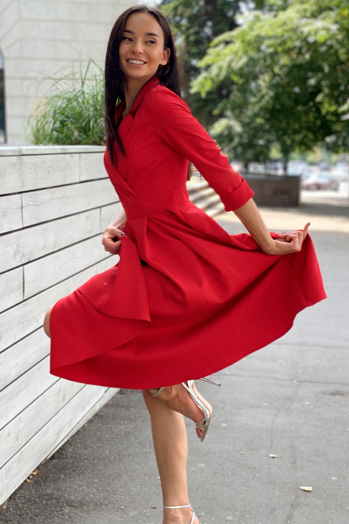 Платье в офис Артего 7832 АРТ. 43767 Цвет: Красный 4 - фото 10, интернет магазин tm-modus.ru