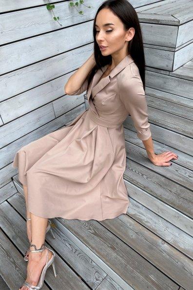 Платье в офис Артего 7832 Цвет: Бежевый Темный