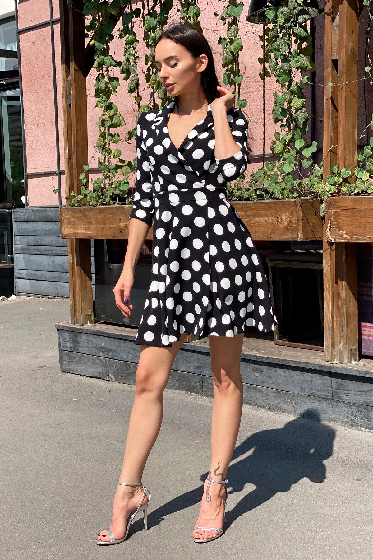 Платье в крупный горох Малья 7859 АРТ. 43760 Цвет: Черный Горох/бел крупн - фото 11, интернет магазин tm-modus.ru