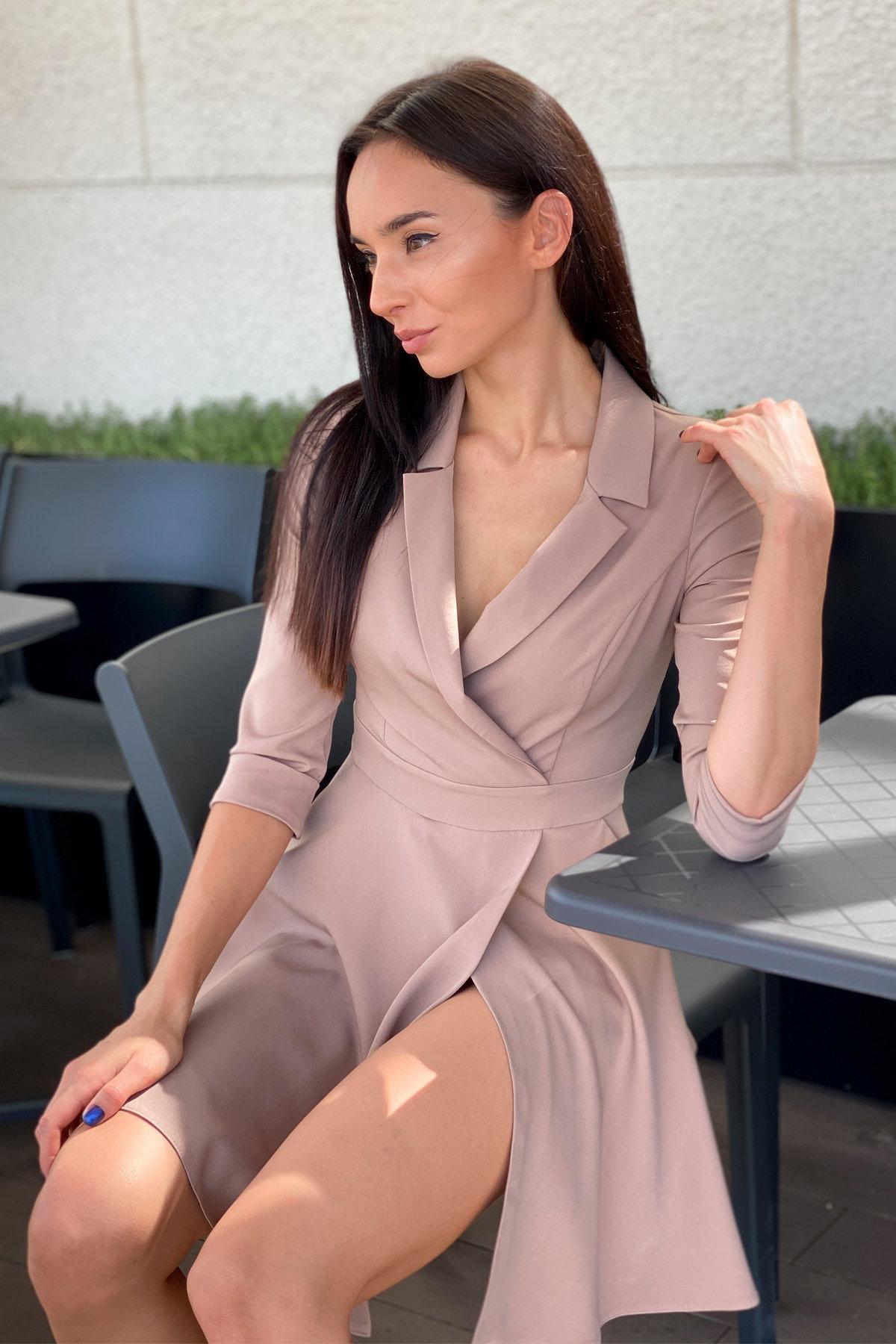 Платье Малья 7678 АРТ. 45991 Цвет: Бежевый Темный - фото 4, интернет магазин tm-modus.ru