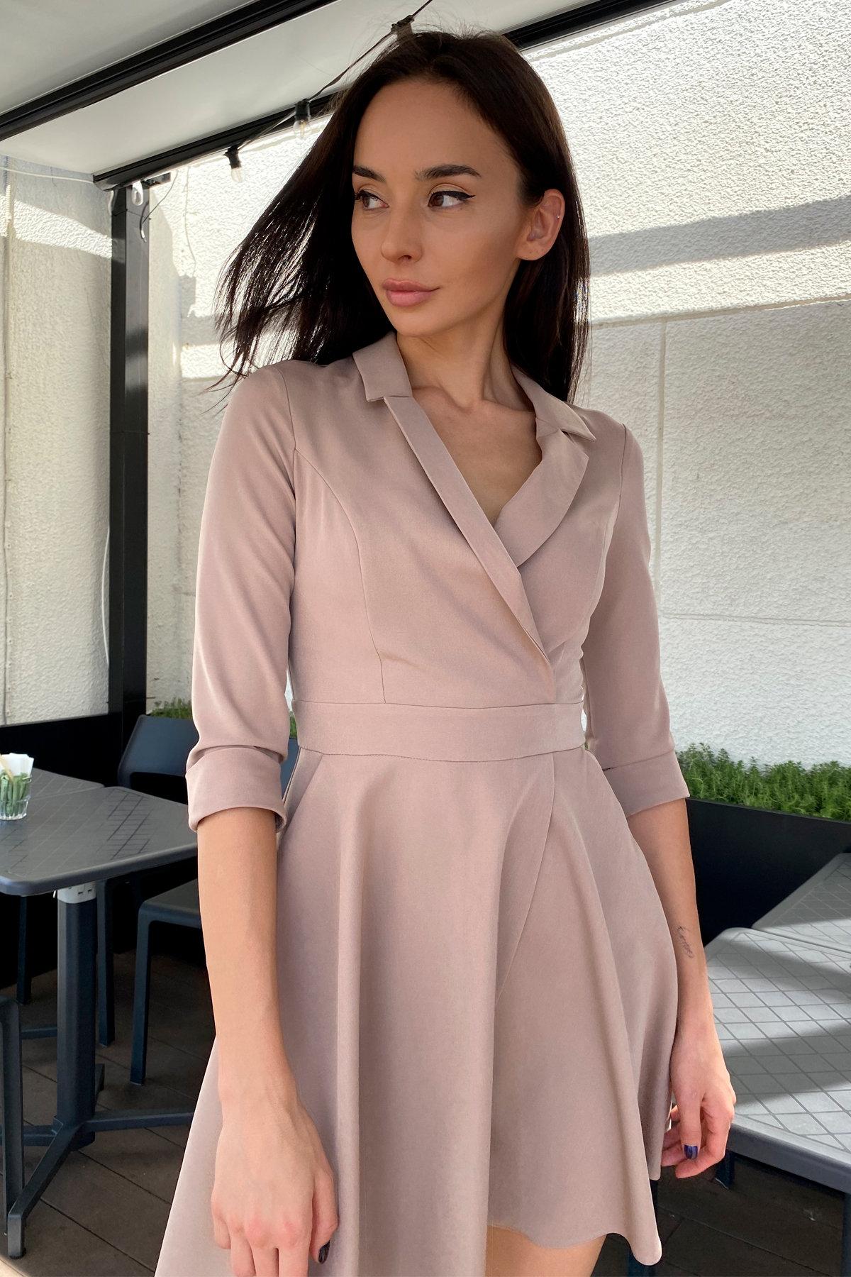 Платье Малья 7678 АРТ. 45991 Цвет: Бежевый Темный - фото 5, интернет магазин tm-modus.ru