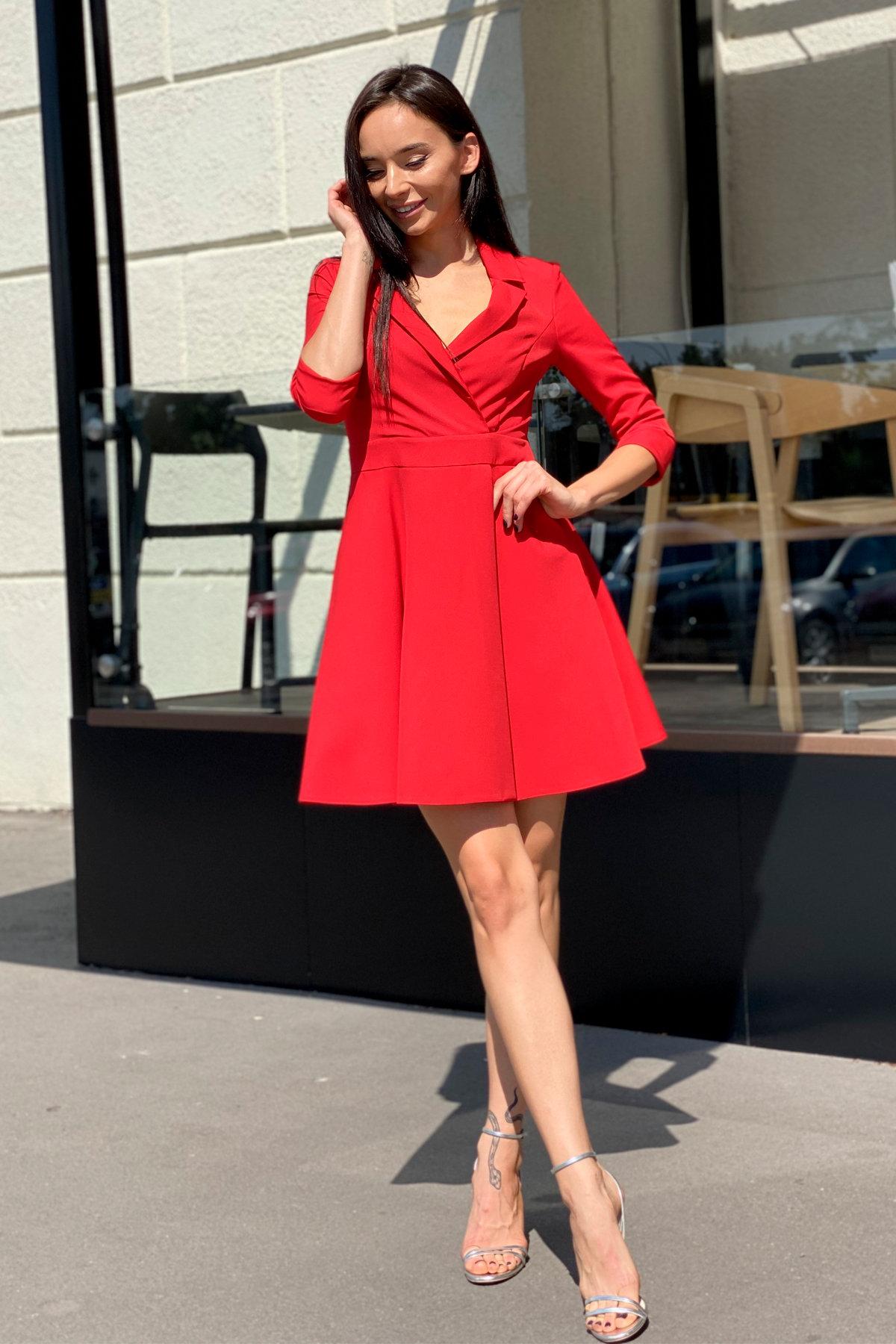 Платье Малья 7678 АРТ. 43600 Цвет: Красный - фото 1, интернет магазин tm-modus.ru