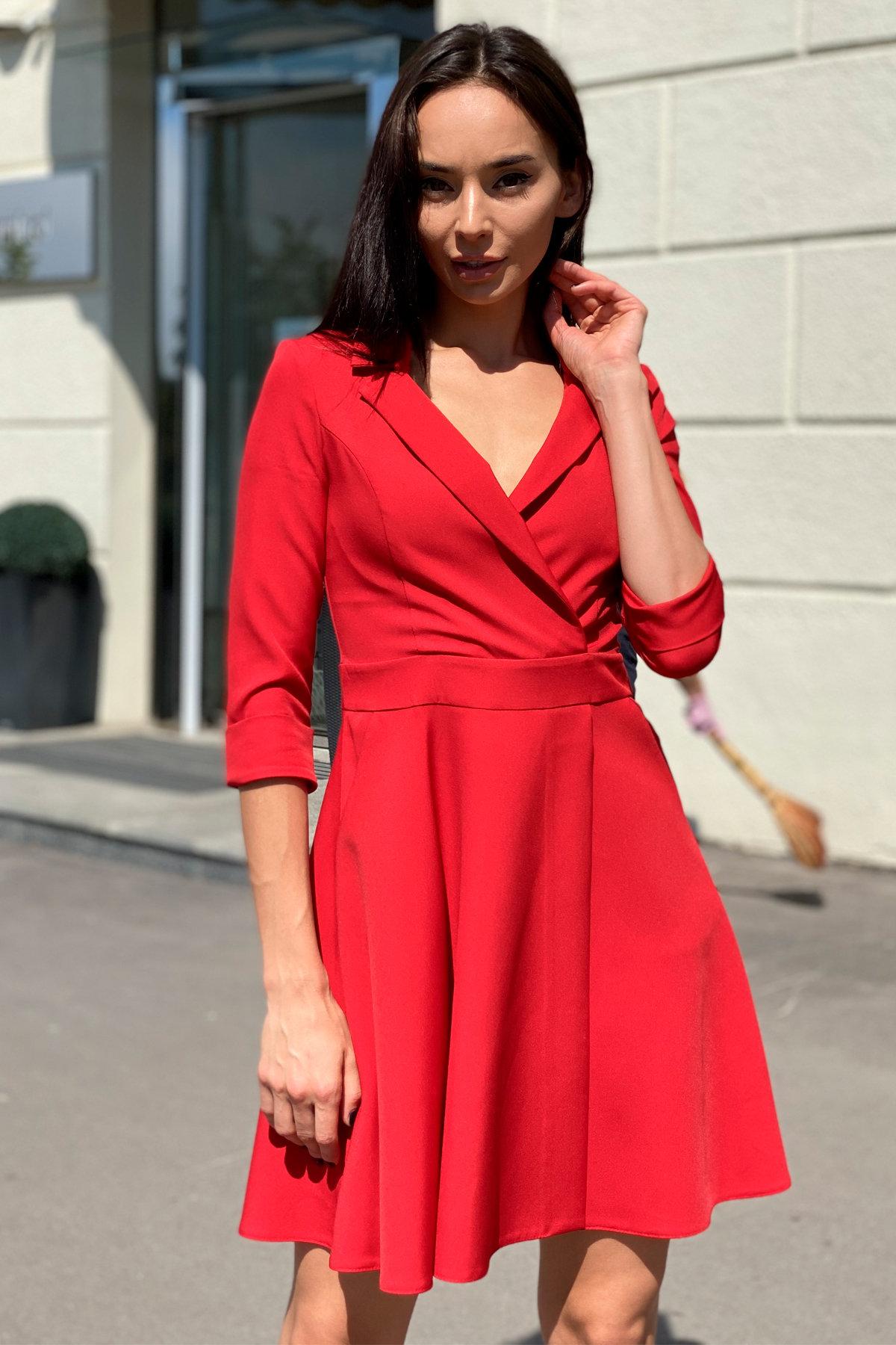 Платье Малья 7678 АРТ. 43600 Цвет: Красный - фото 2, интернет магазин tm-modus.ru