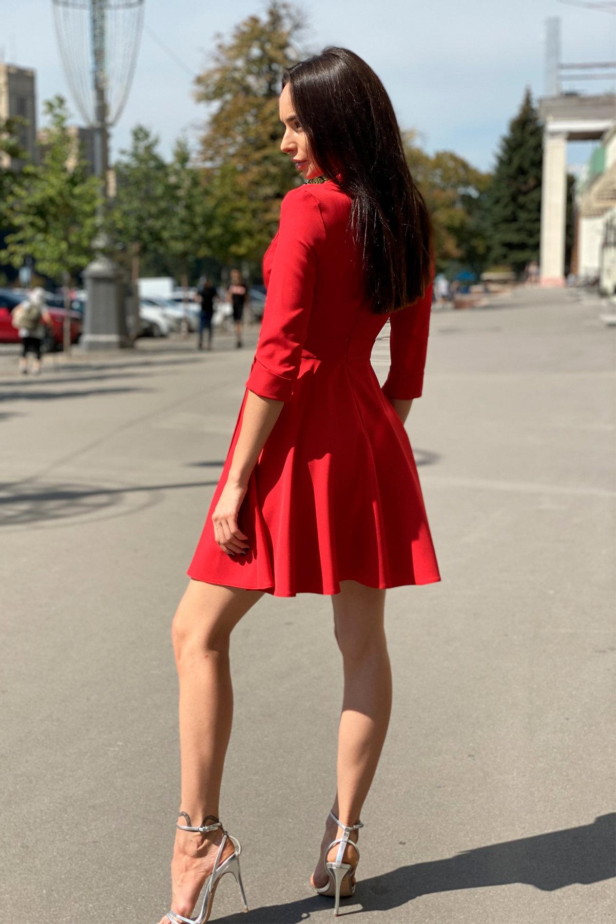 Платье Малья 7678 АРТ. 43600 Цвет: Красный - фото 3, интернет магазин tm-modus.ru