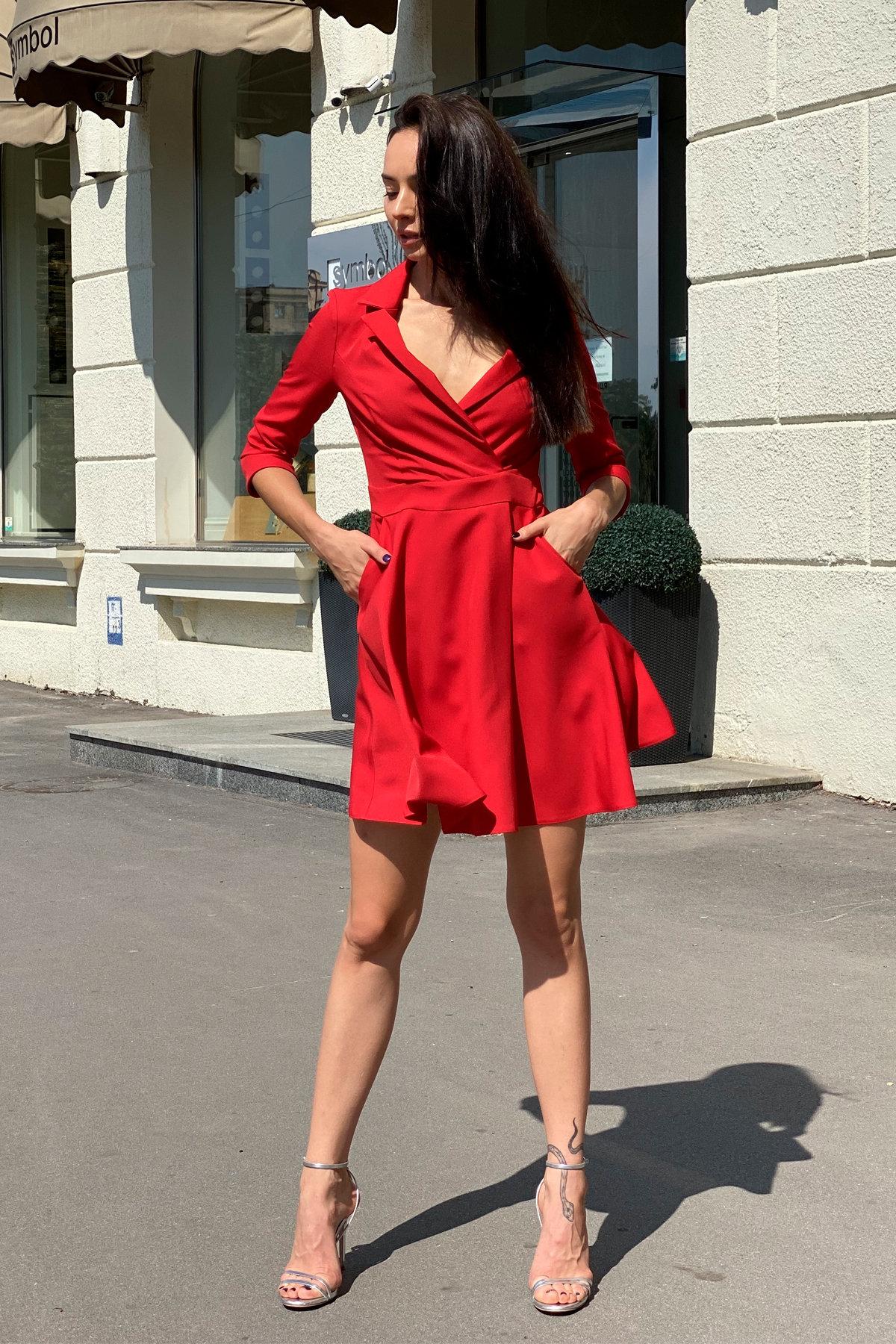 Платье Малья 7678 АРТ. 43600 Цвет: Красный - фото 4, интернет магазин tm-modus.ru