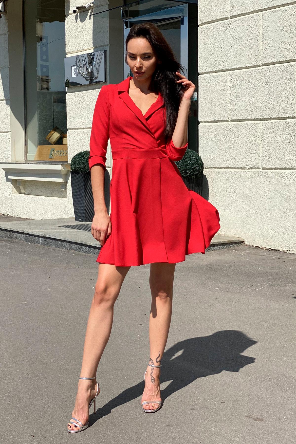 Платье Малья 7678 АРТ. 43600 Цвет: Красный - фото 5, интернет магазин tm-modus.ru