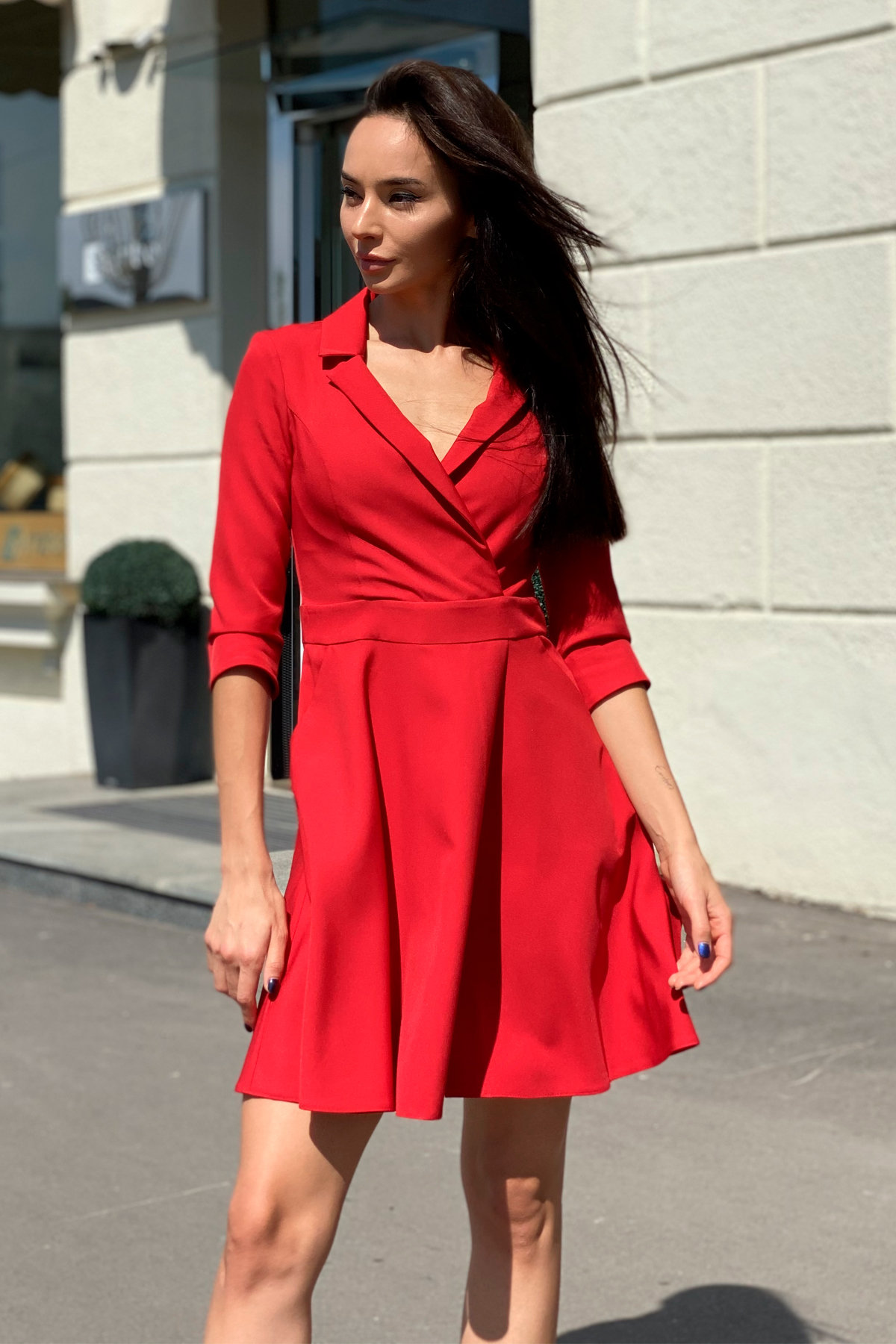 Платье Малья 7678 АРТ. 43600 Цвет: Красный - фото 6, интернет магазин tm-modus.ru