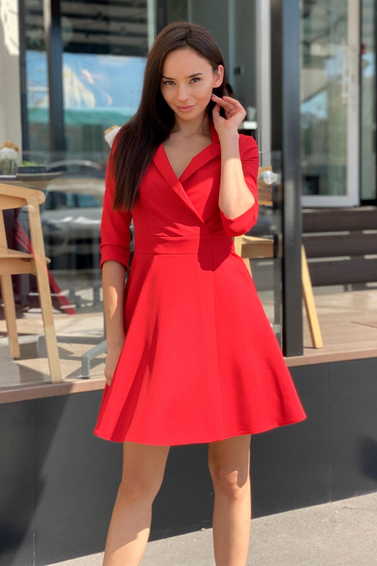 Платье Малья 7678 АРТ. 43600 Цвет: Красный - фото 9, интернет магазин tm-modus.ru