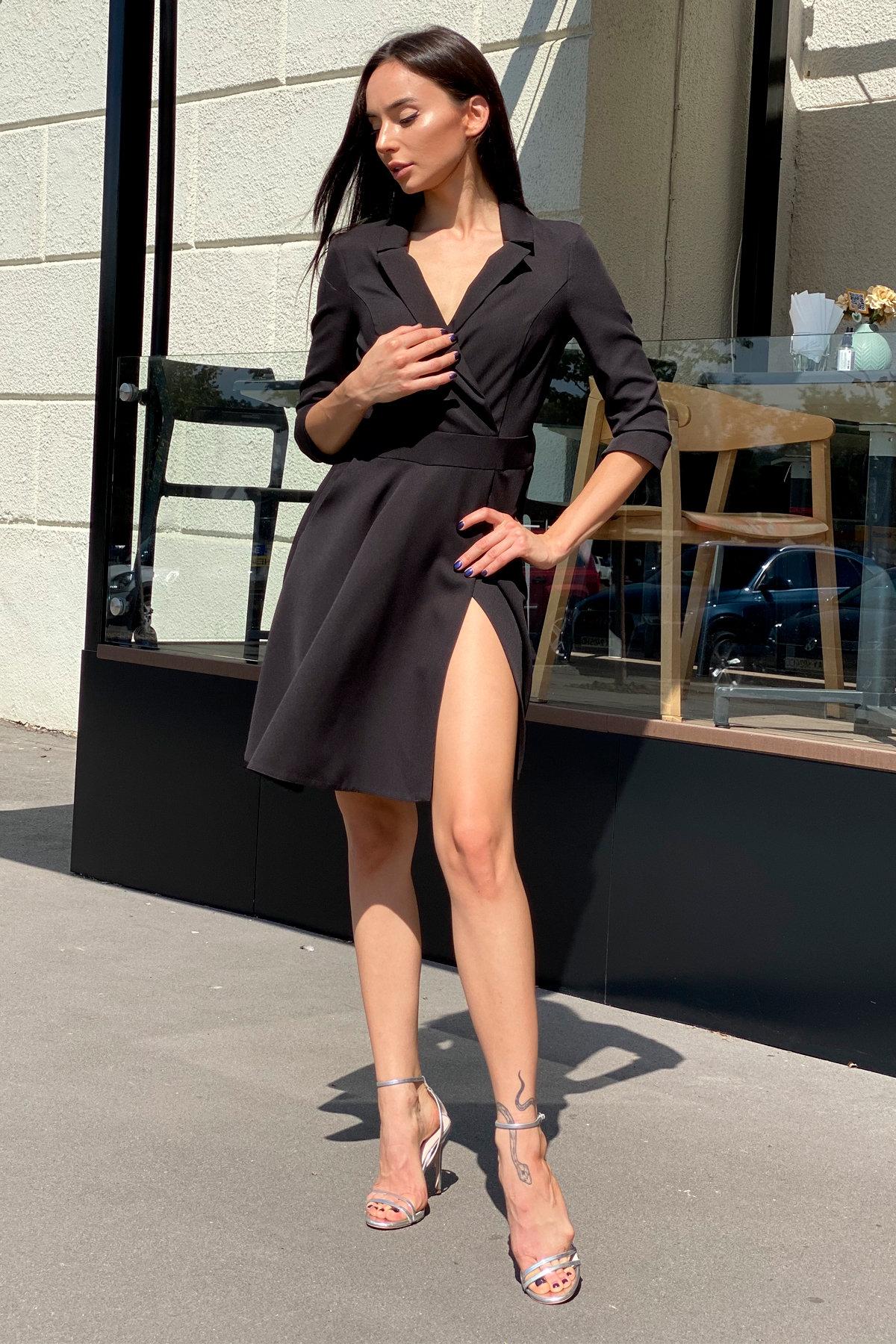 Платье Малья 7678 АРТ. 45990 Цвет: Черный - фото 3, интернет магазин tm-modus.ru