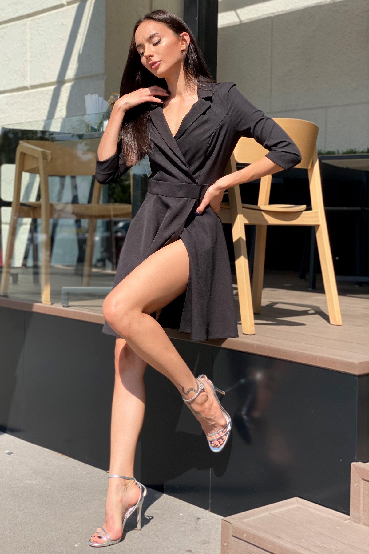 Платье Малья 7678 АРТ. 45990 Цвет: Черный - фото 5, интернет магазин tm-modus.ru