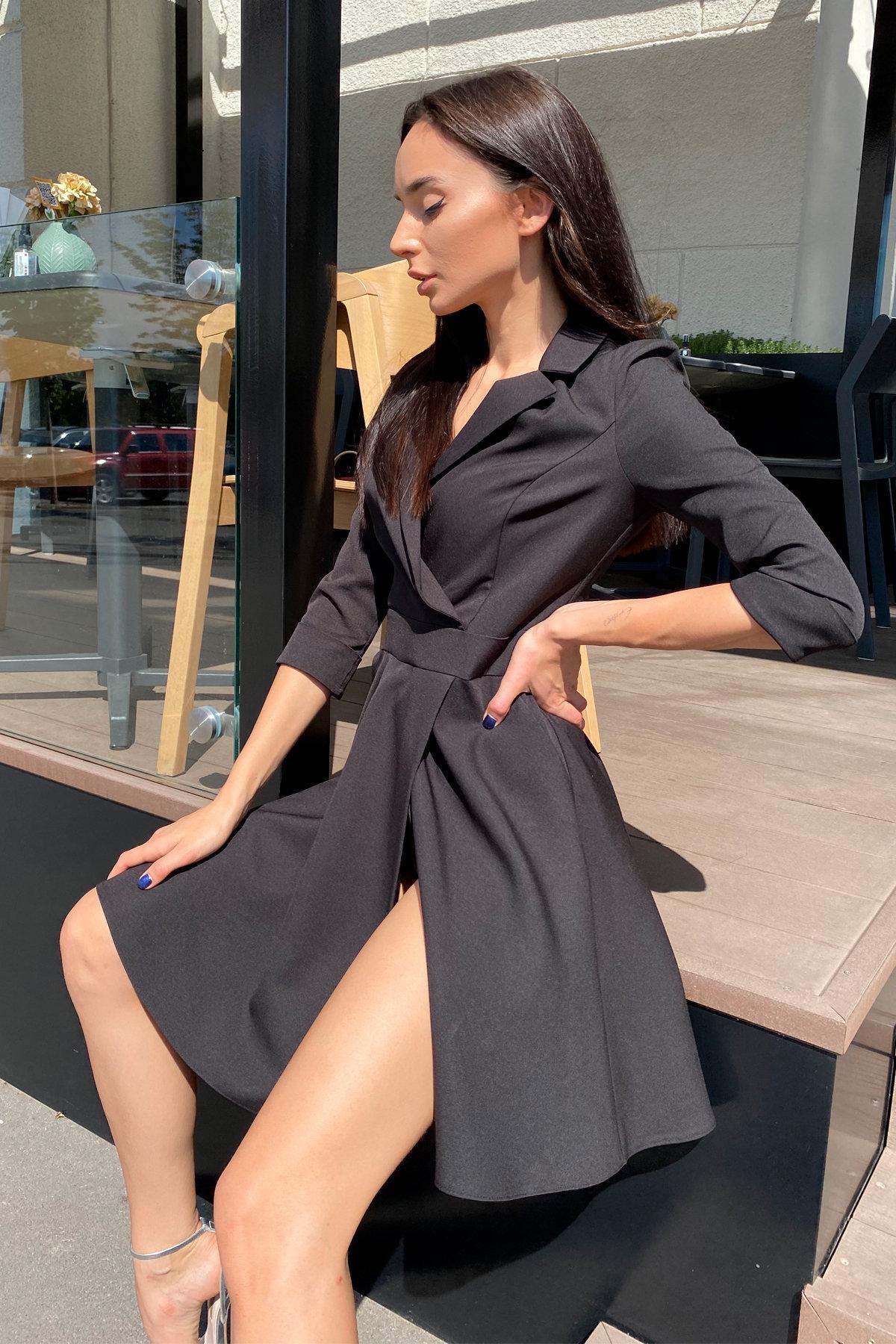 Платье Малья 7678 АРТ. 45990 Цвет: Черный - фото 7, интернет магазин tm-modus.ru
