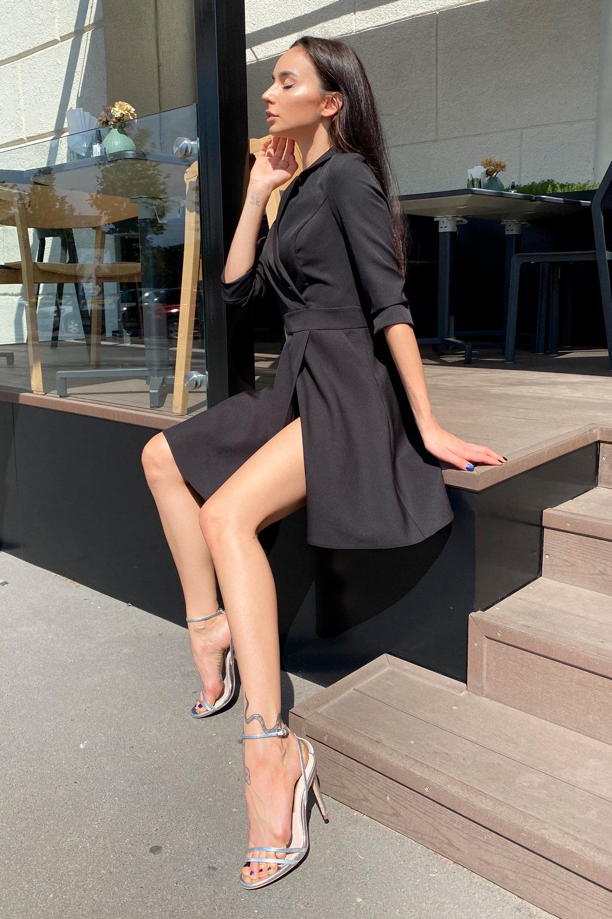 Платье Малья 7678 АРТ. 45990 Цвет: Черный - фото 8, интернет магазин tm-modus.ru