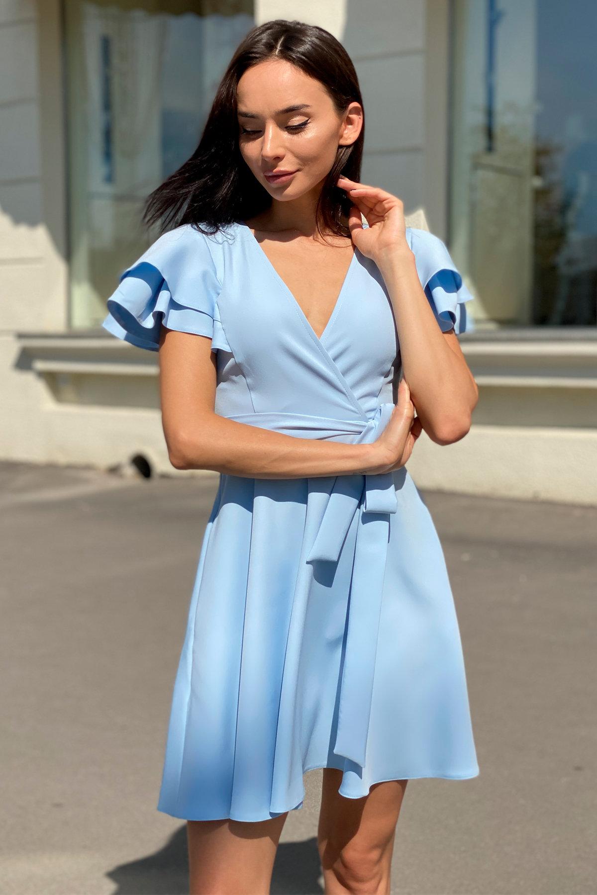 Платье Милея 9649 АРТ. 45970 Цвет: Голубой - фото 3, интернет магазин tm-modus.ru