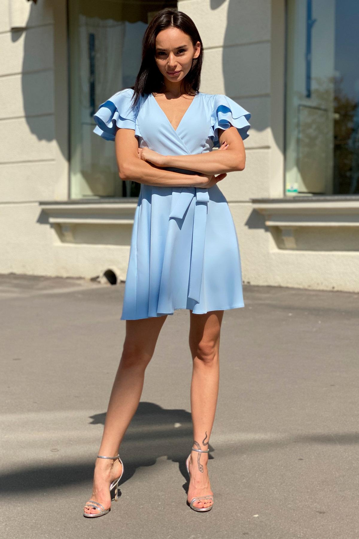 Платье Милея 9649 АРТ. 45970 Цвет: Голубой - фото 4, интернет магазин tm-modus.ru