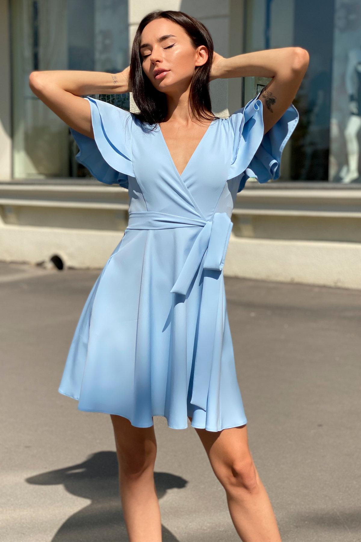 Платье Милея 9649 АРТ. 45970 Цвет: Голубой - фото 5, интернет магазин tm-modus.ru