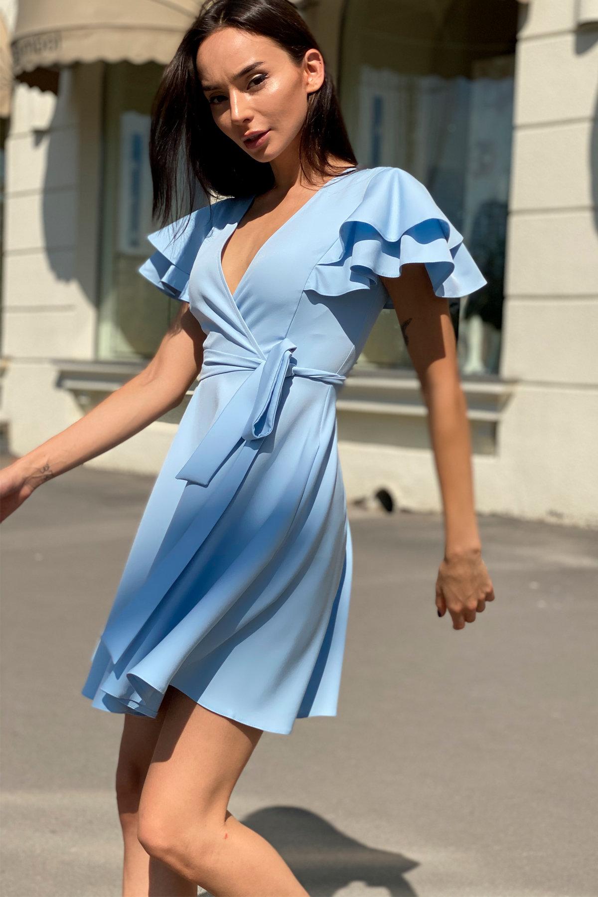 Платье Милея 9649 АРТ. 45970 Цвет: Голубой - фото 6, интернет магазин tm-modus.ru
