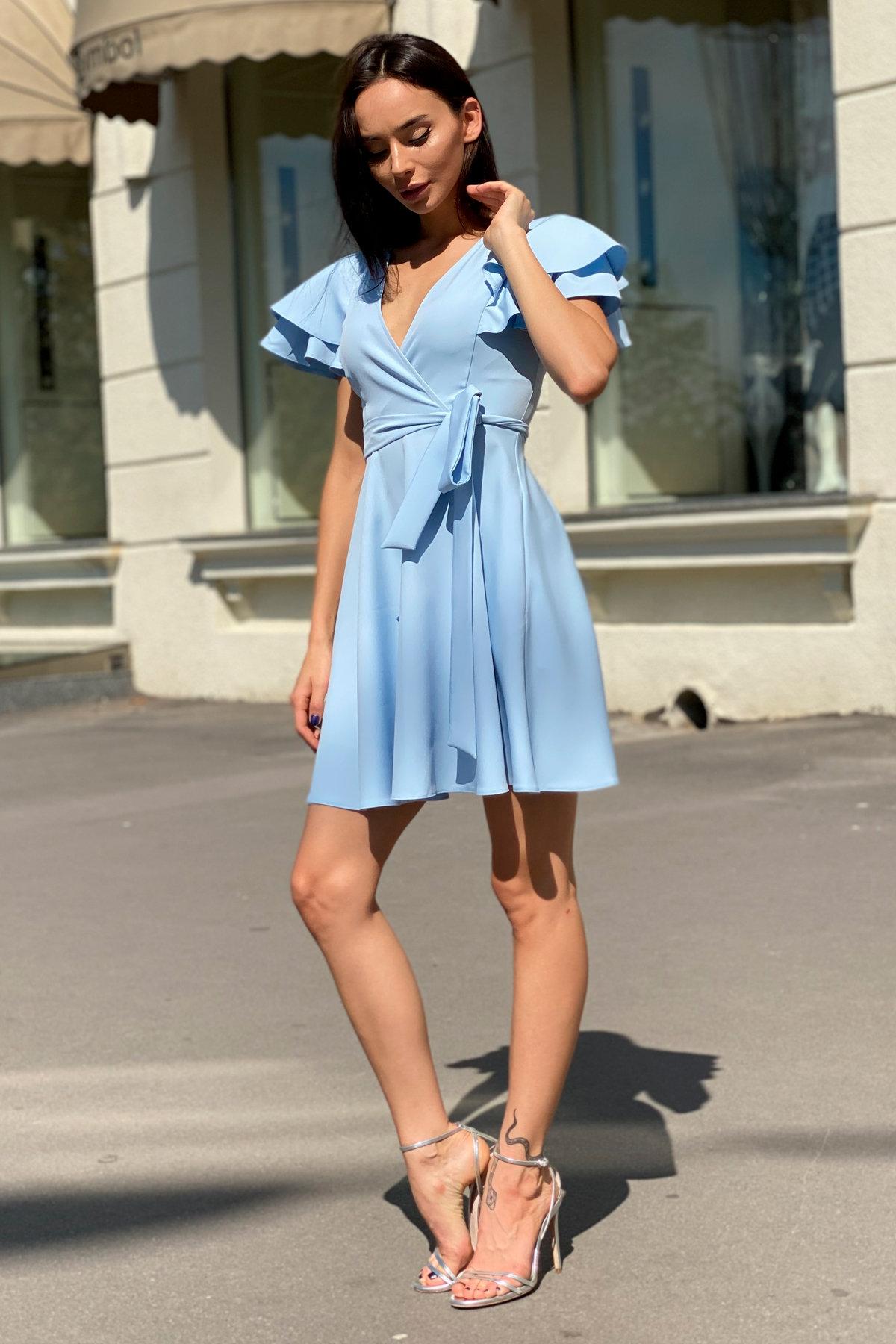 Платье Милея 9649 АРТ. 45970 Цвет: Голубой - фото 7, интернет магазин tm-modus.ru