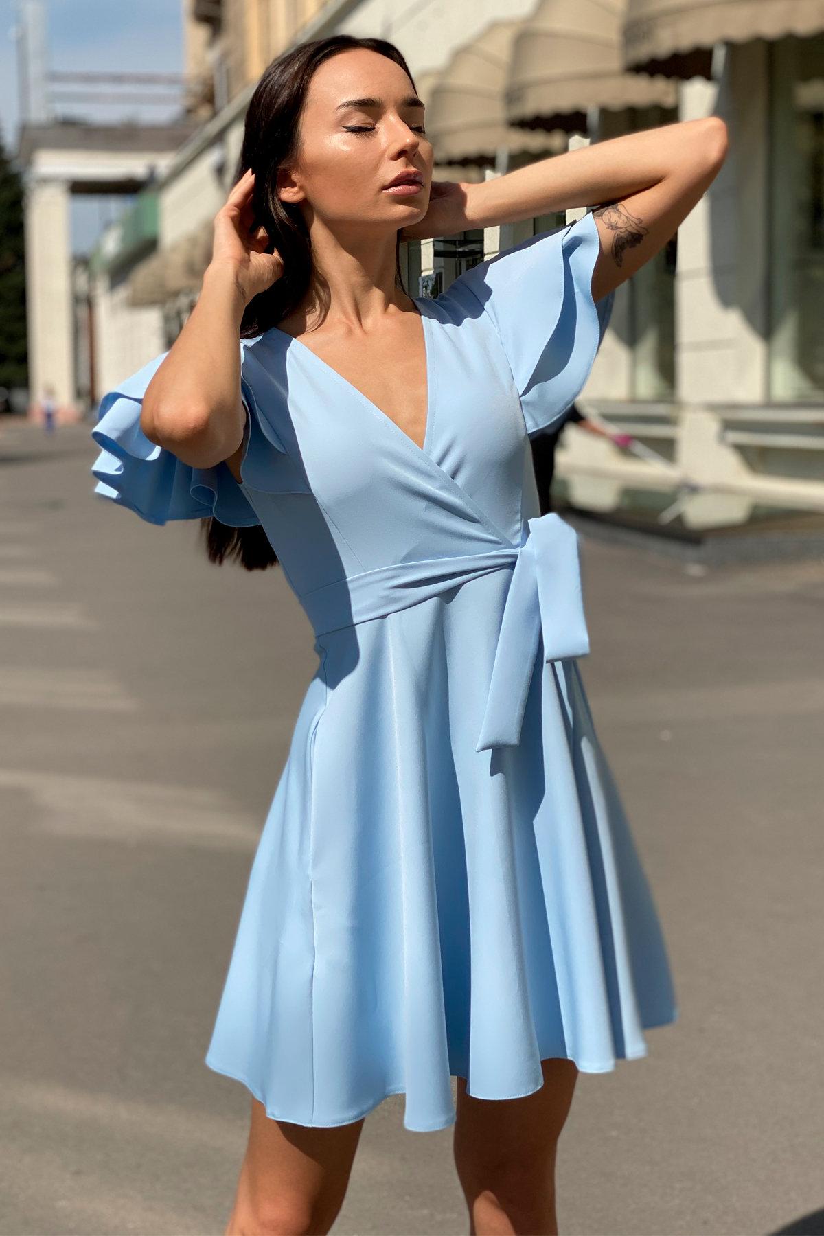 Платье Милея 9649 АРТ. 45970 Цвет: Голубой - фото 8, интернет магазин tm-modus.ru