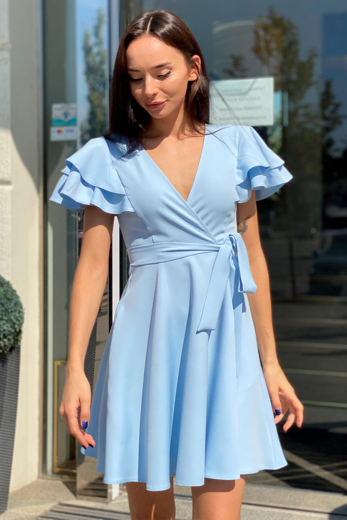 Платье Милея 9649 АРТ. 45970 Цвет: Голубой - фото 10, интернет магазин tm-modus.ru