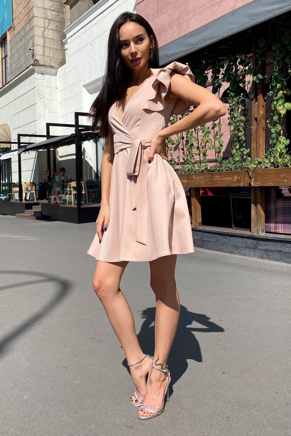 Платье Милея 9649 АРТ. 45969 Цвет: Бежевый - фото 1, интернет магазин tm-modus.ru