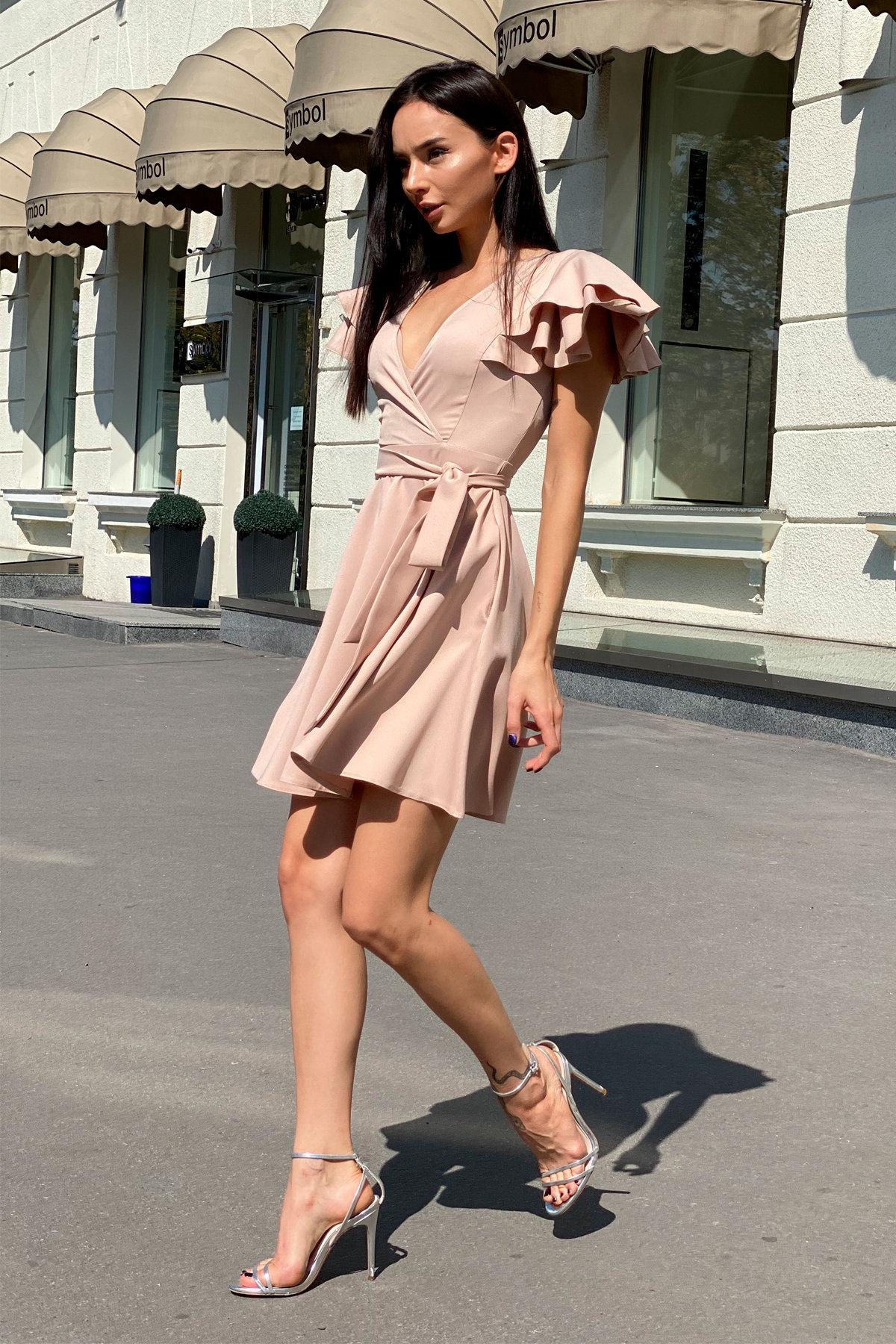 Платье Милея 9649 АРТ. 45969 Цвет: Бежевый - фото 5, интернет магазин tm-modus.ru