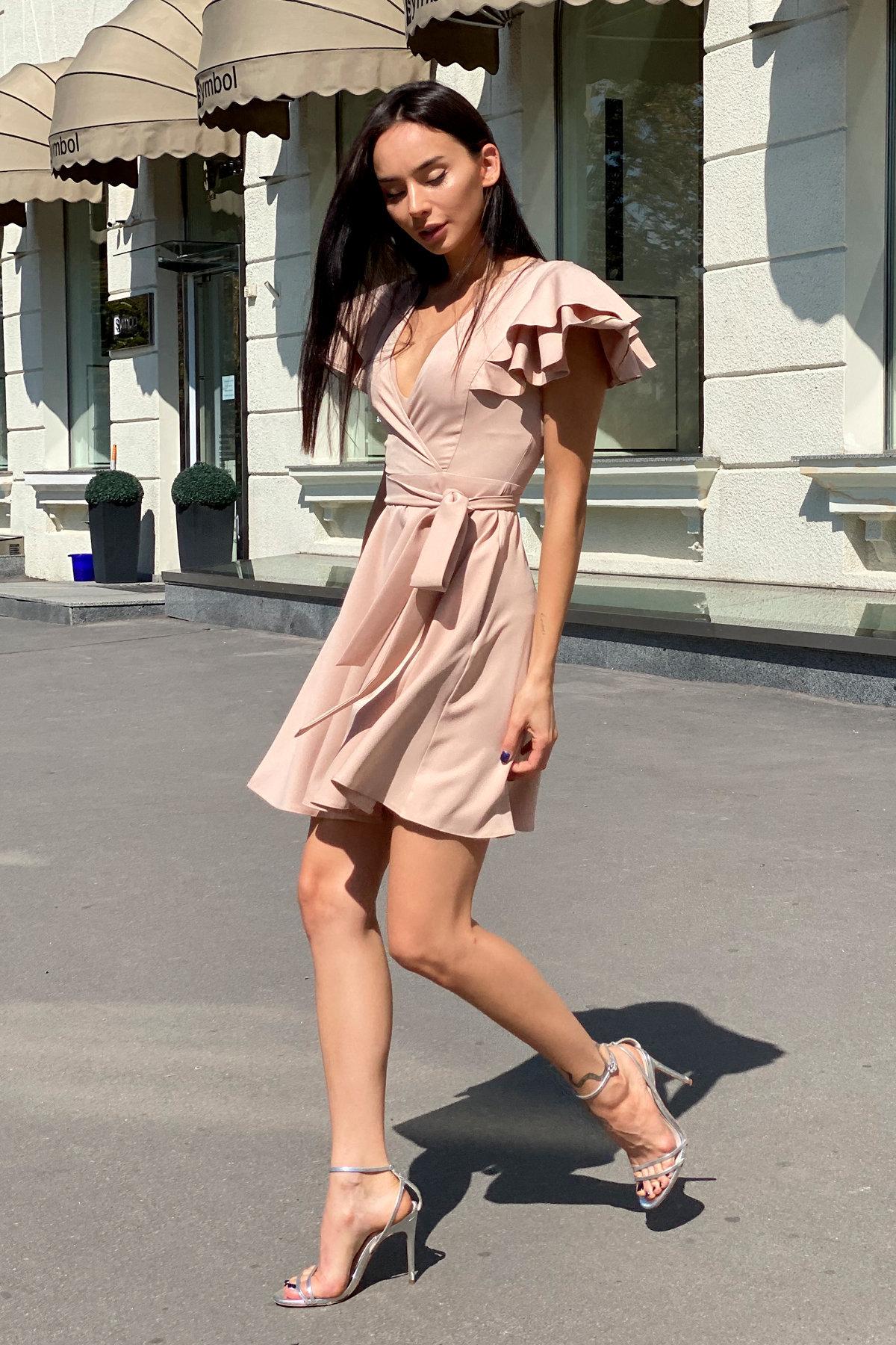 Платье Милея 9649 АРТ. 45969 Цвет: Бежевый - фото 6, интернет магазин tm-modus.ru