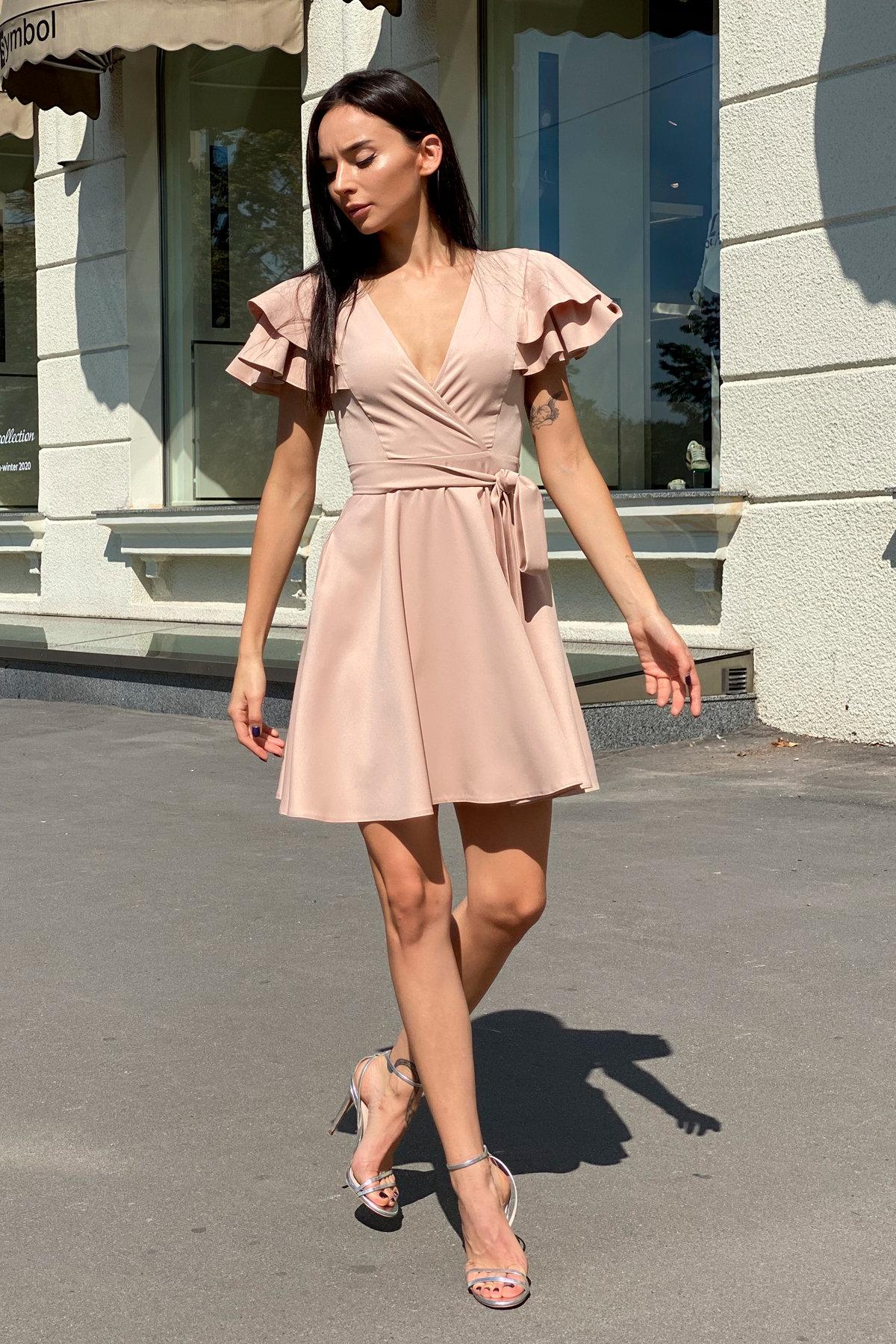 Платье Милея 9649 АРТ. 45969 Цвет: Бежевый - фото 7, интернет магазин tm-modus.ru